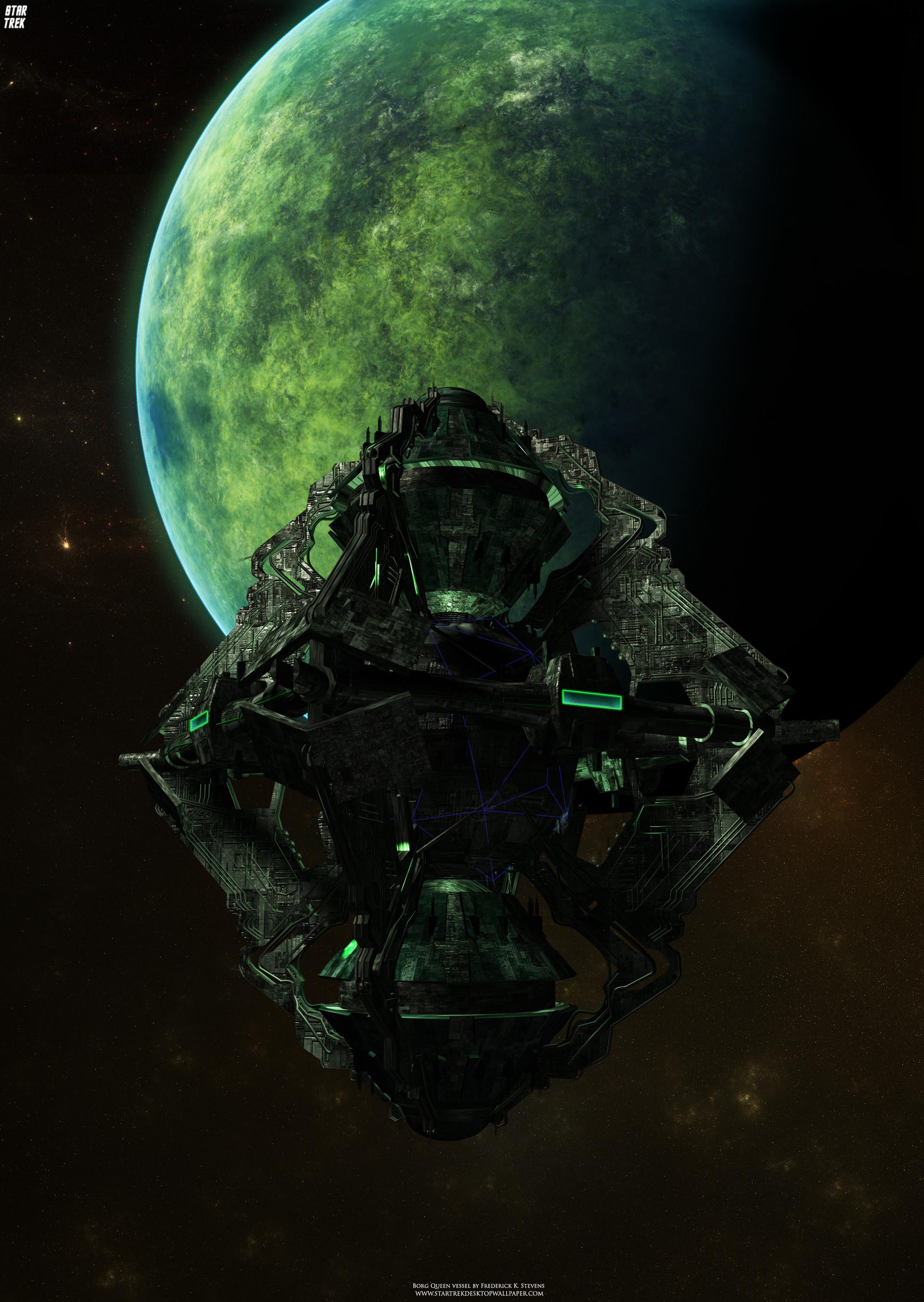 Res: 1920x2704, Star Trek Borg Queen's Vessel. Free Star Trek computer desktop wallpaper,  images, pictures