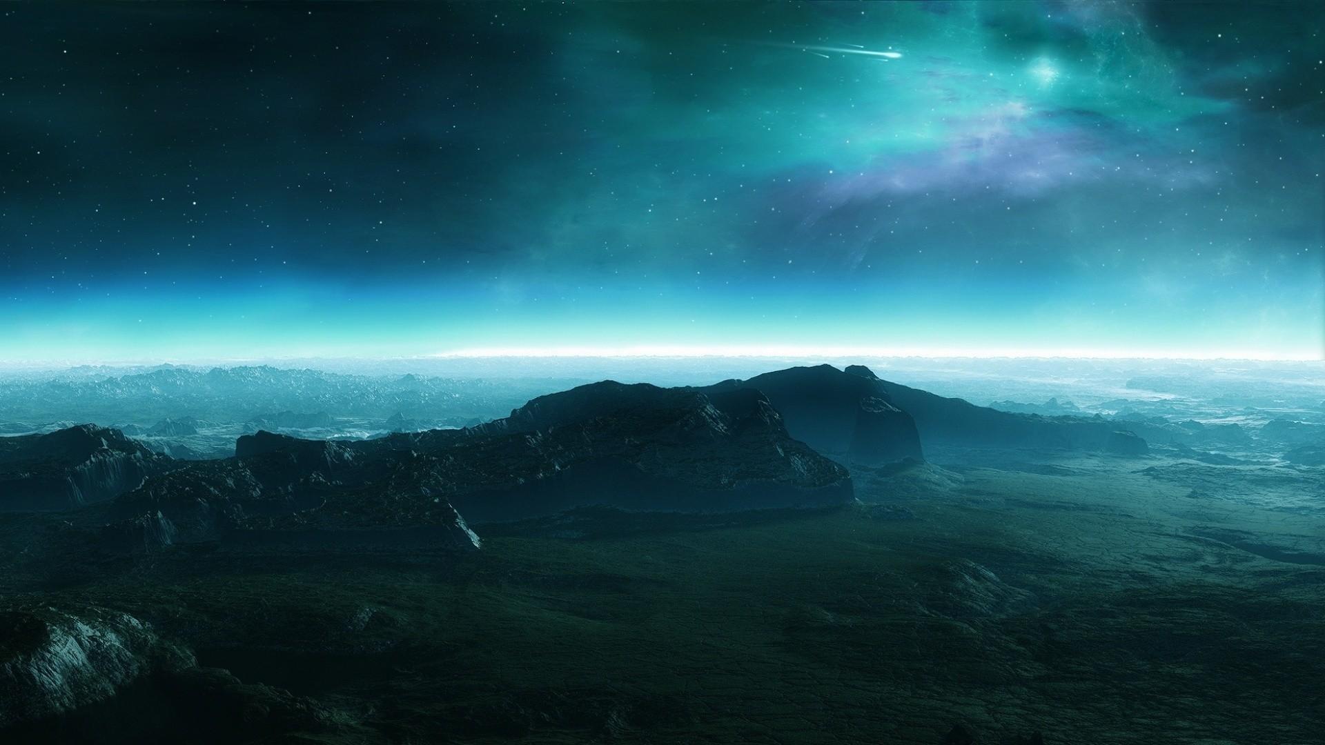 Res: 1920x1080, Alien world landscape