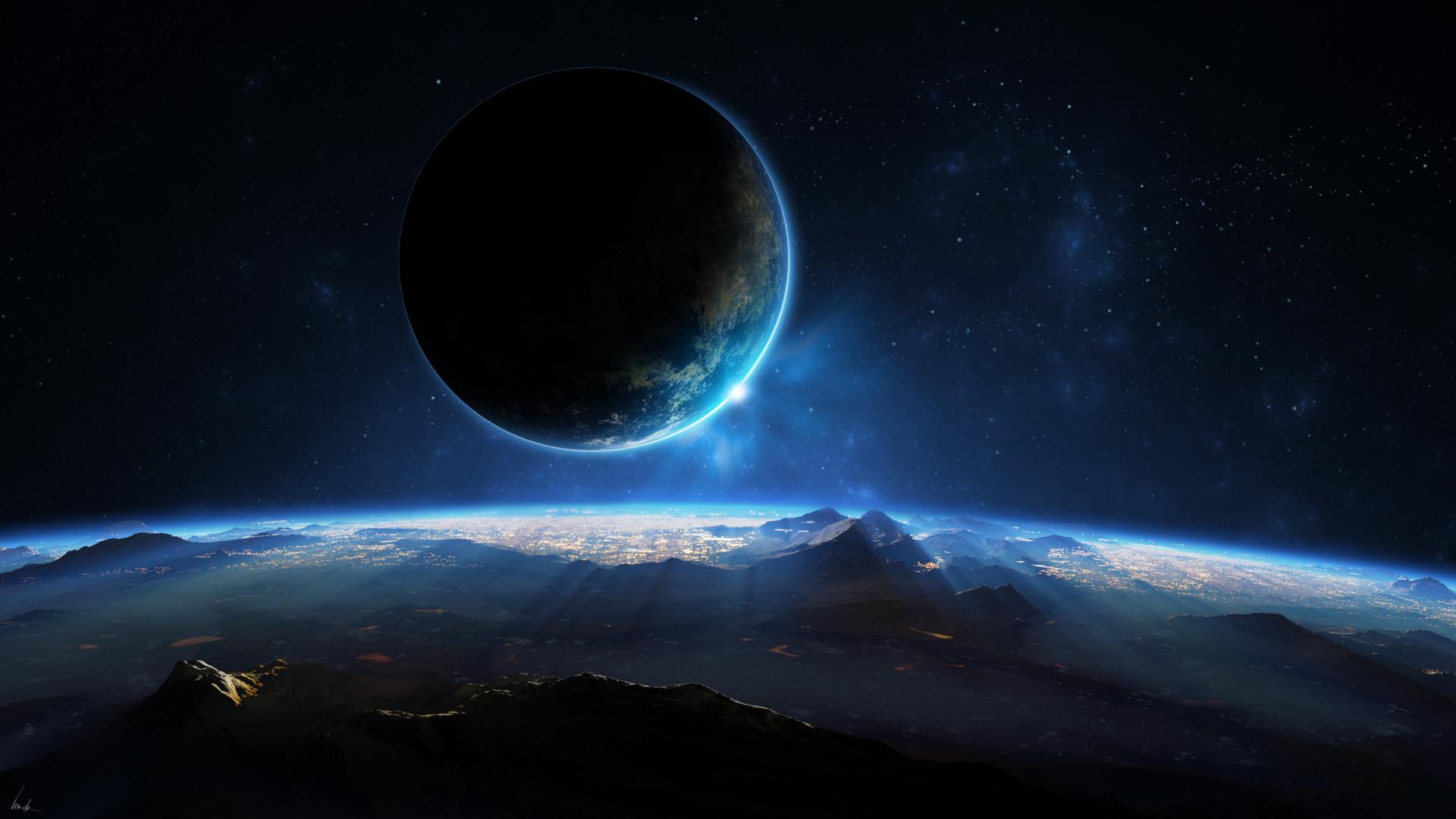 Res: 1920x1080, Alien Landscape Planet Stars Starlight space planets wallpaper |   | 79480 | WallpaperUP