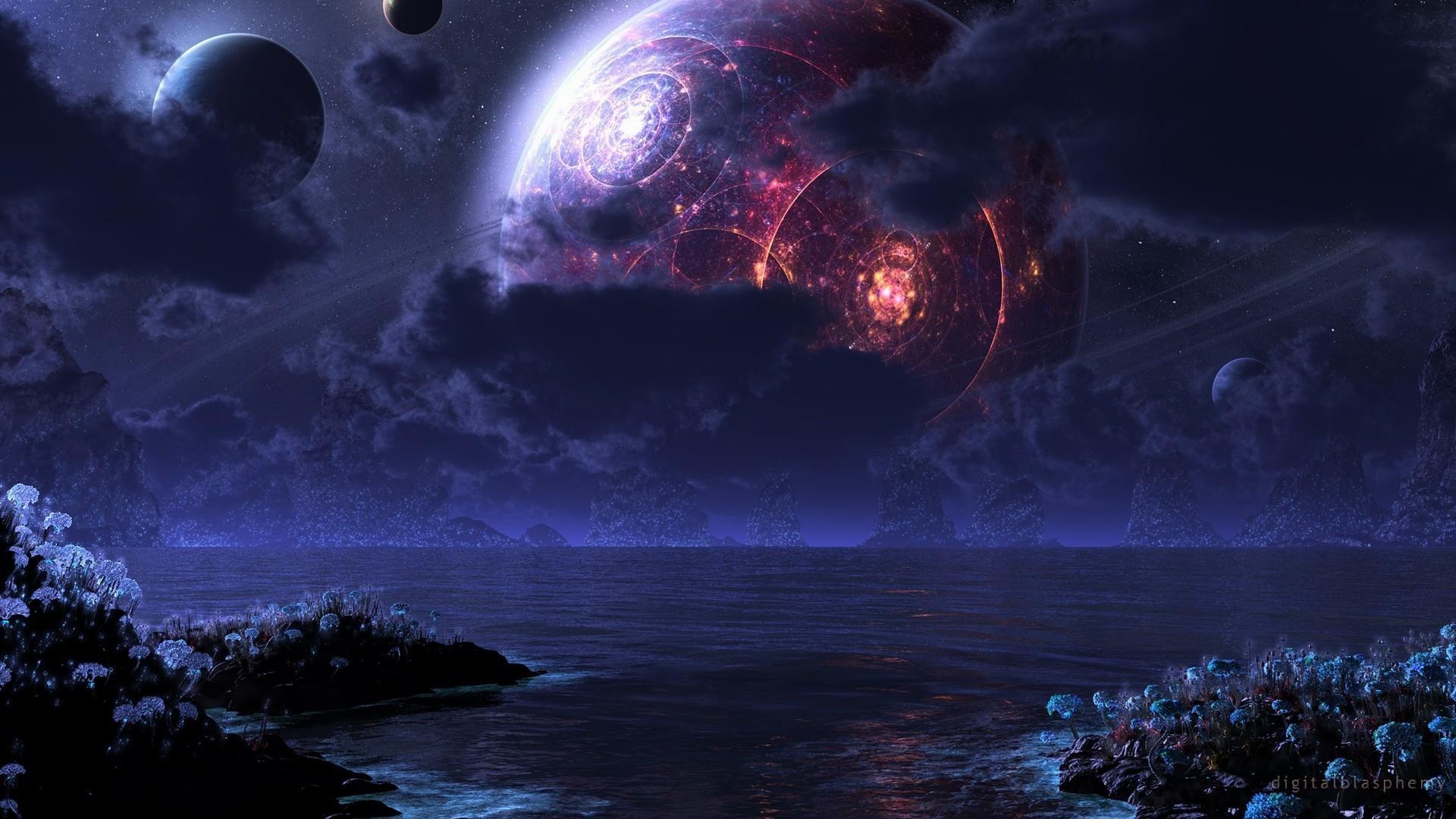 Res: 1920x1080, Alien-Civilization-Planet-Landscape-Hi-Res-Alien-Landscape-Hd-Free-Do- wallpaper-wp6802290