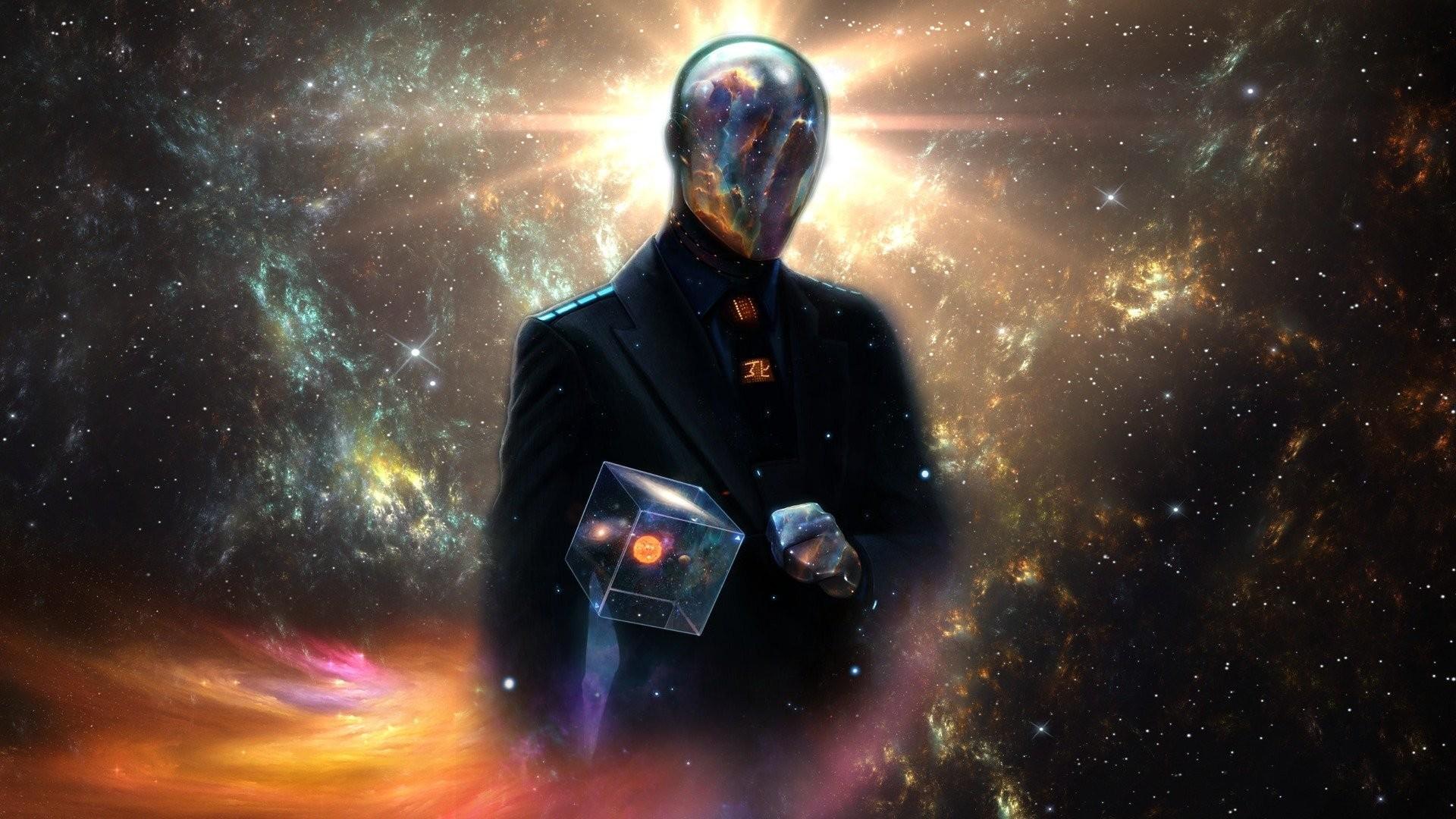 Res: 1920x1080, space universe world sun silver alien