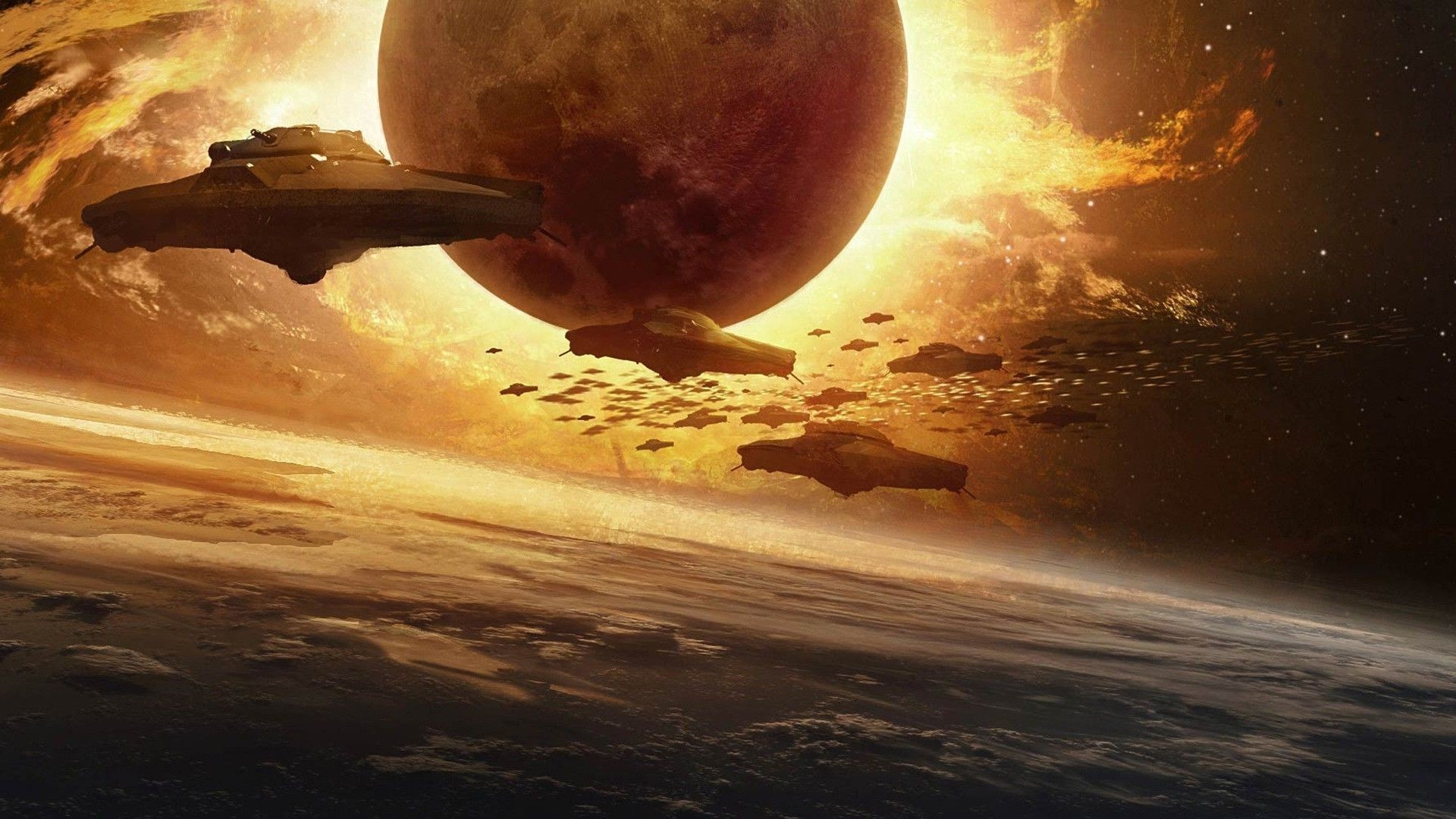 Res: 1920x1080, Alien invasion HD wallpaper