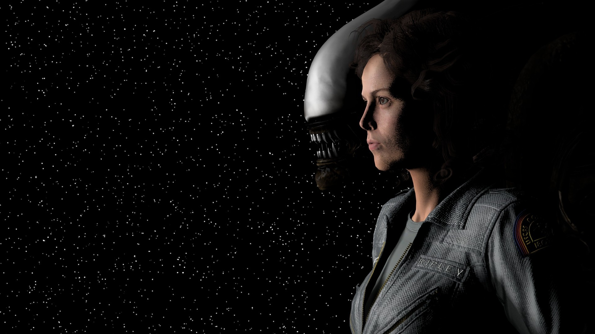 Res: 1920x1080, General  women actress movies space Alien (movie) Sigourney Weaver  Ellen Ripley astronaut stars