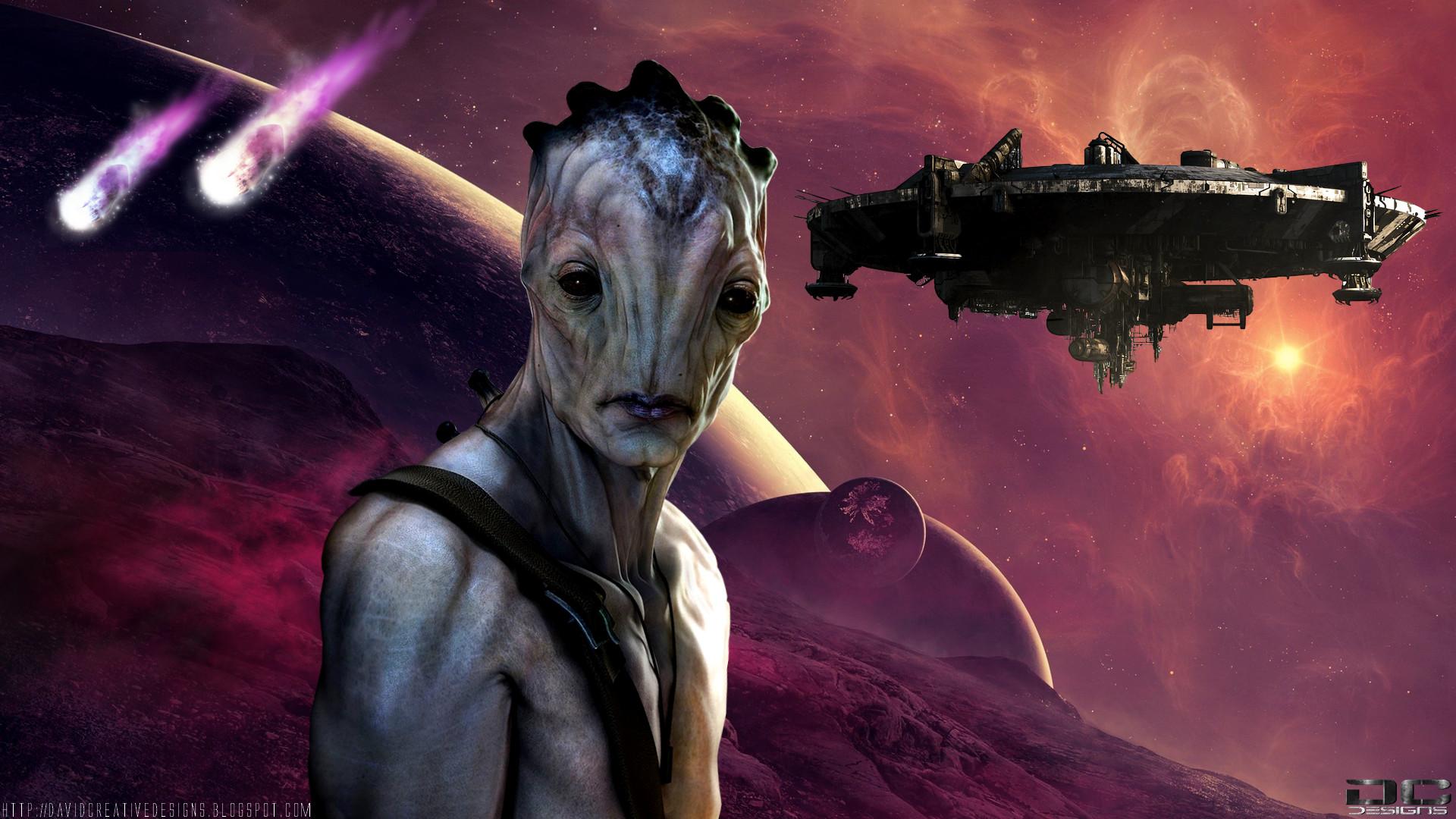 Res: 1920x1080, Space Alien Wallpaper