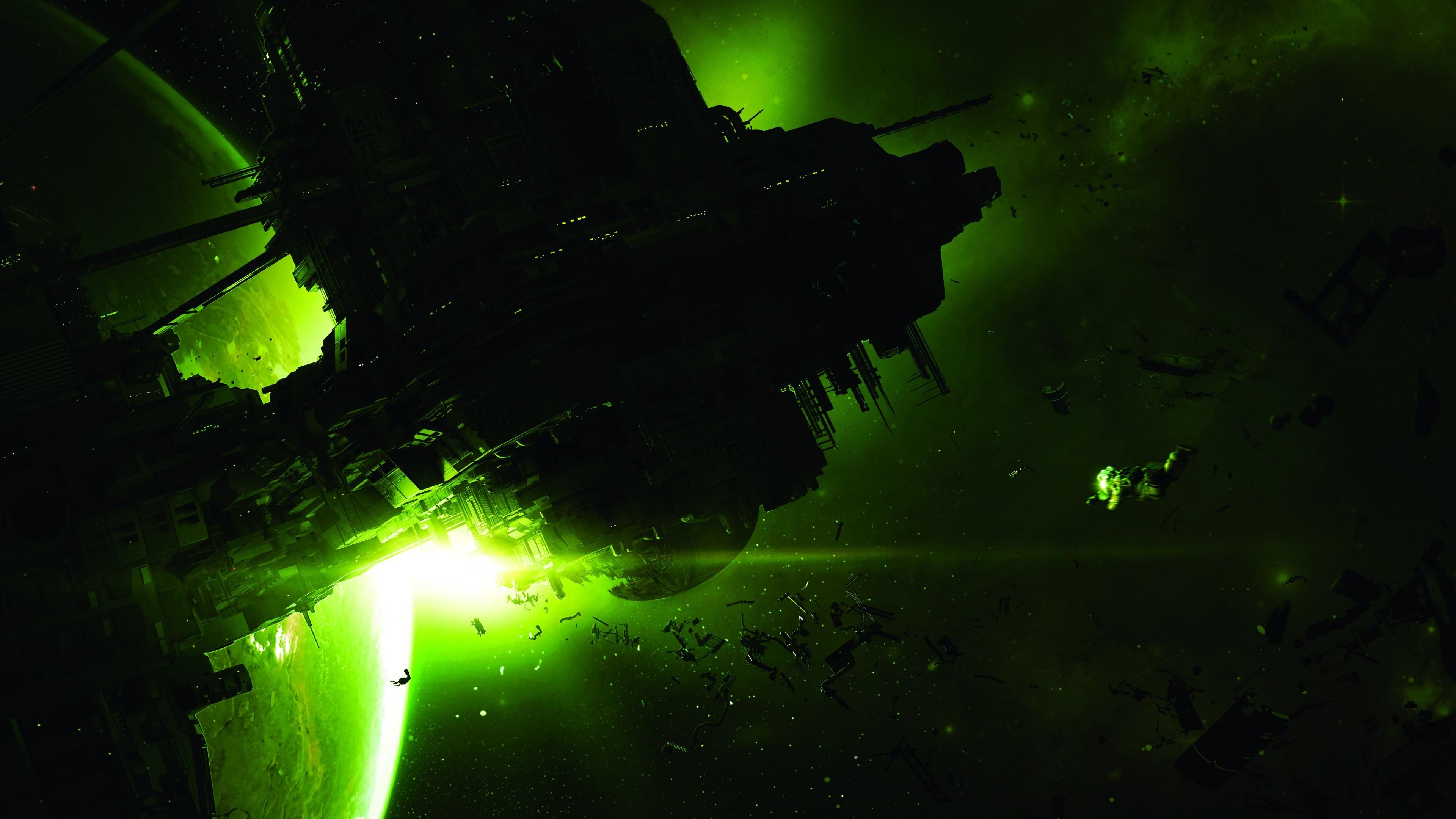 Res: 3840x2160, Games / Alien: Isolation Wallpaper