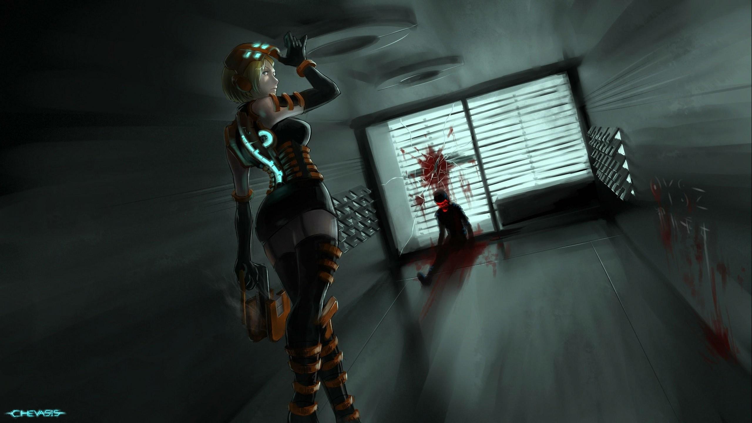 Res: 2560x1440, DEAD SPACE sci-fi shooter action futuristic 1deads warrior cyborg robot alien  aliens artwork deadspace fighting wallpaper |  | 740426 |  WallpaperUP
