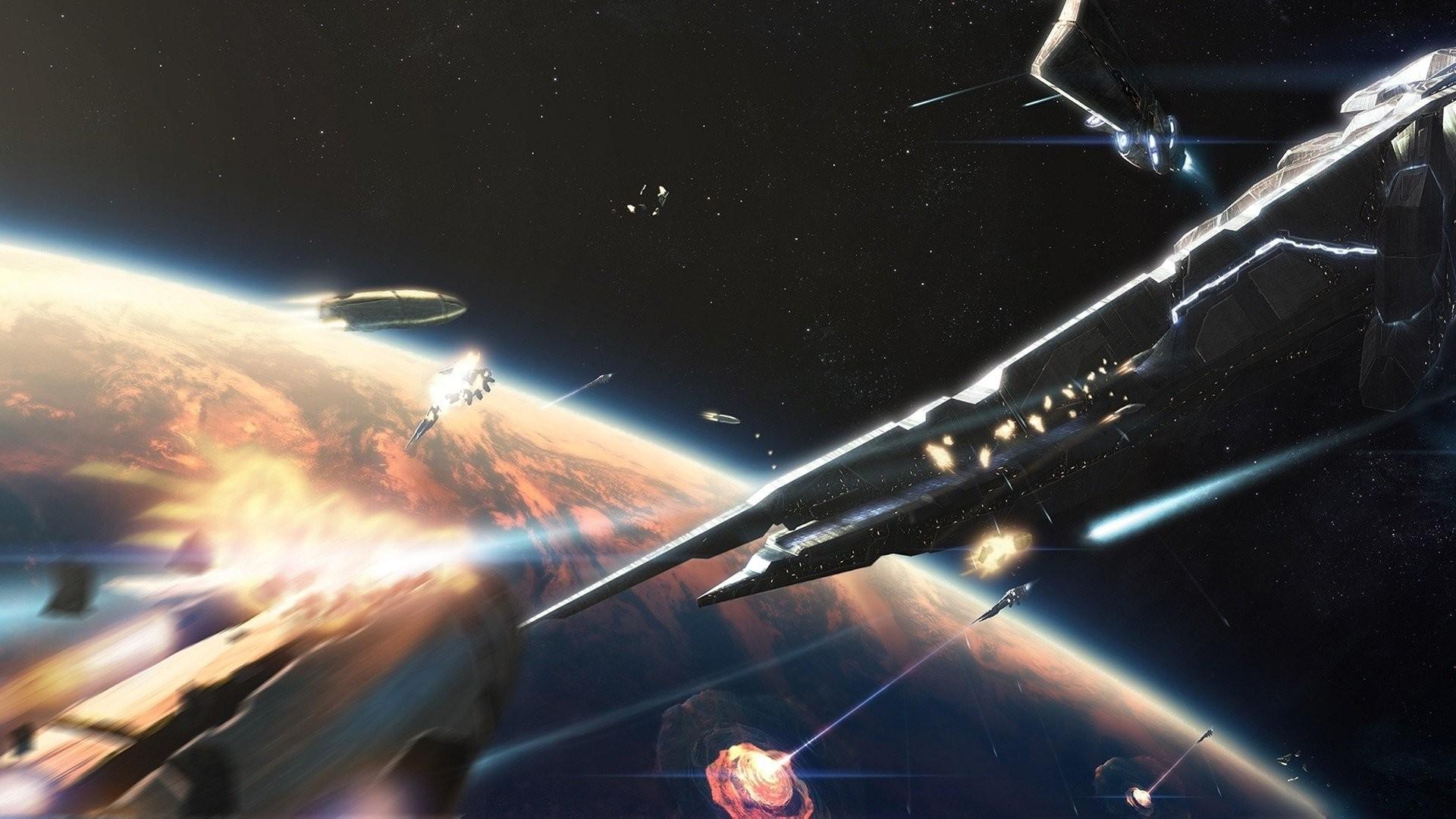 Res: 1920x1080, space battle 884165