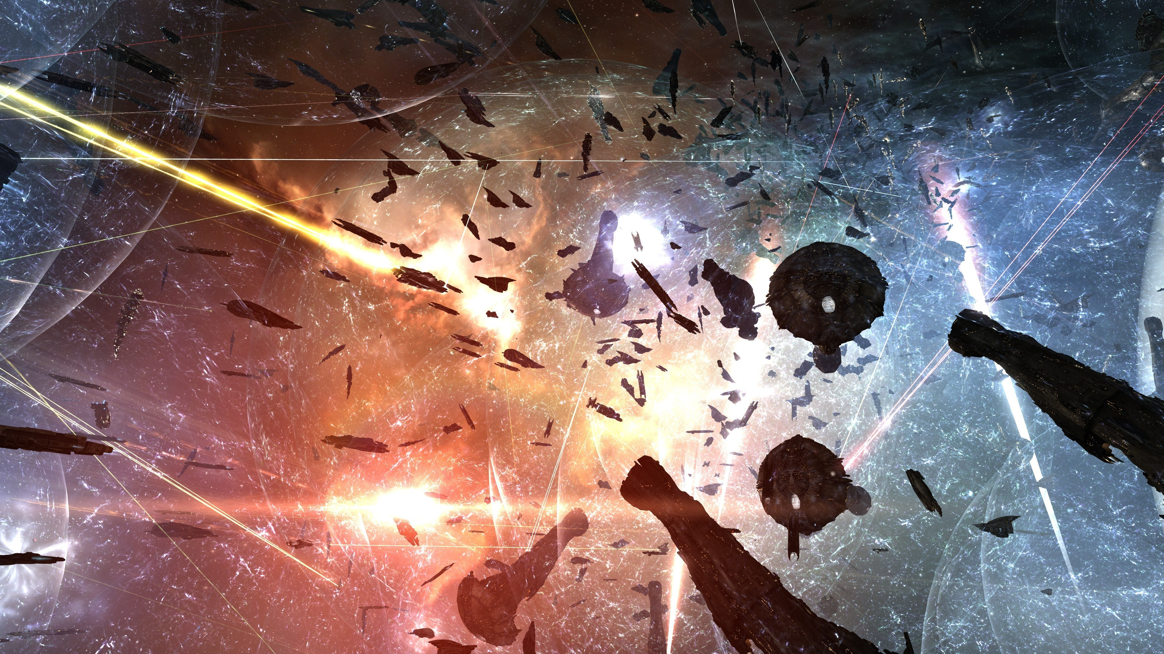 Res: 3840x2160, EVE Online, Spaceship, Space Battle Wallpapers HD / Desktop and Mobile  Backgrounds