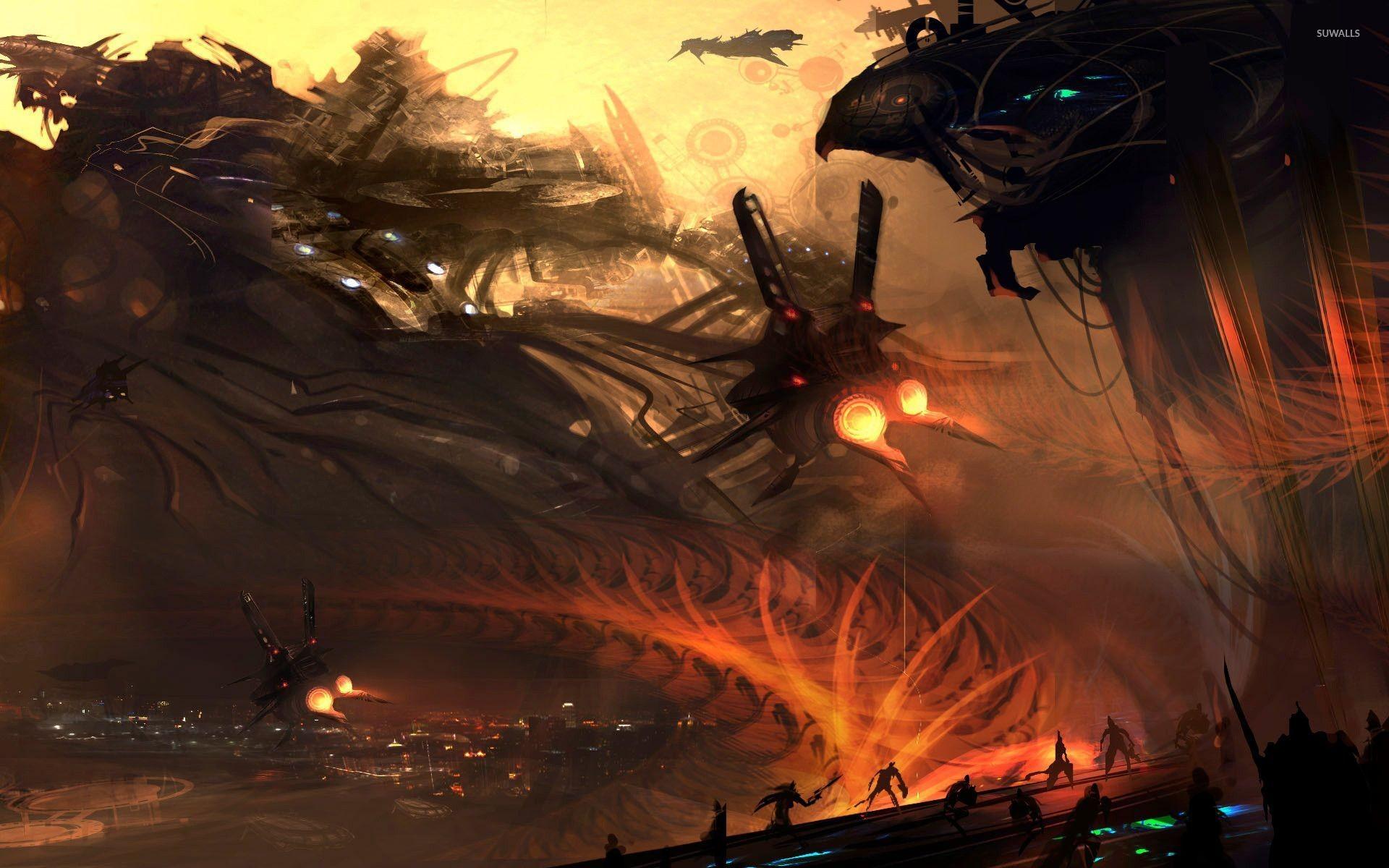 Res: 1920x1200, Space battle [2] wallpaper
