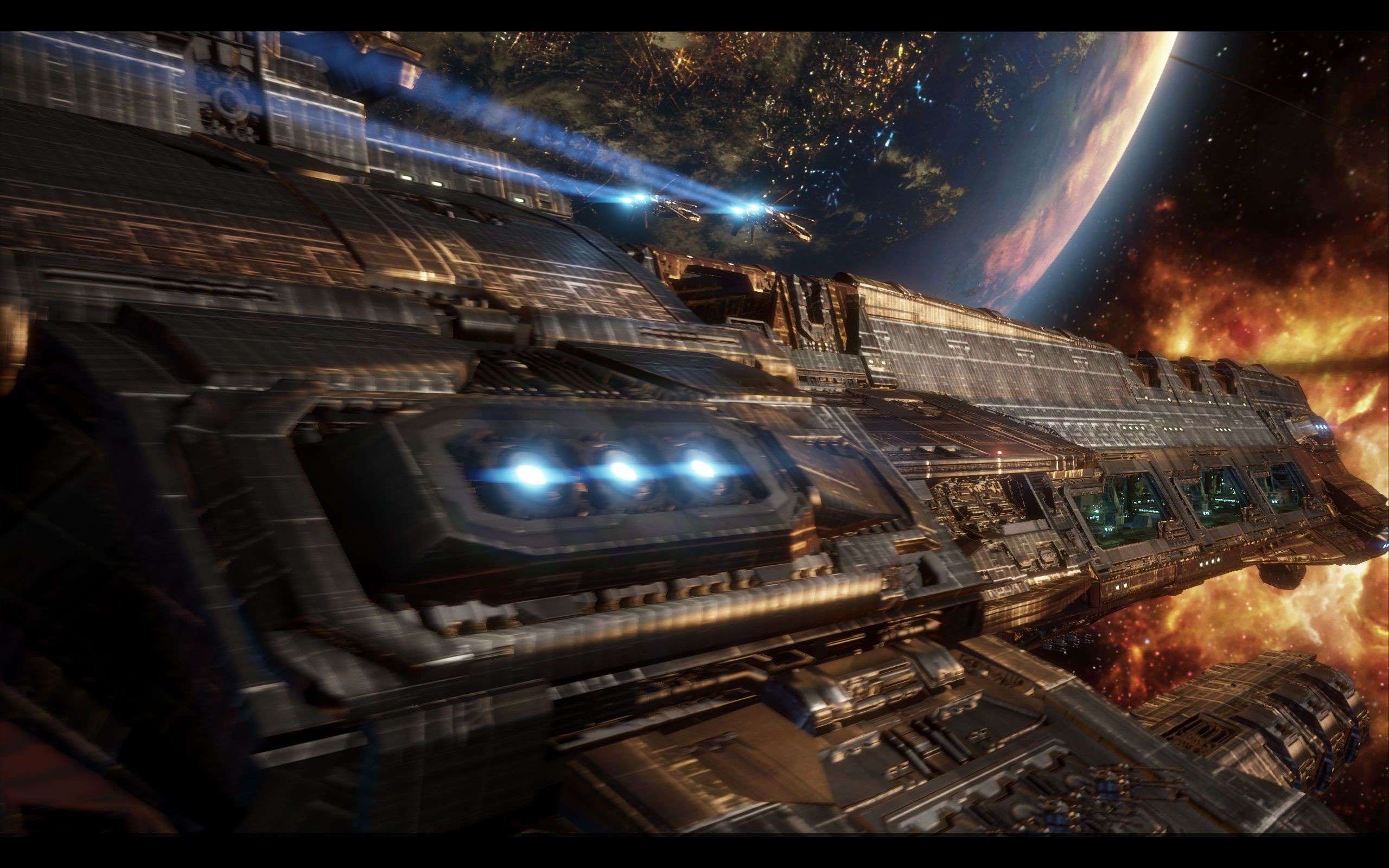 Res: 2560x1600, Sci Fi Battle Wallpapers Phone Fantasy Game Wallpaper