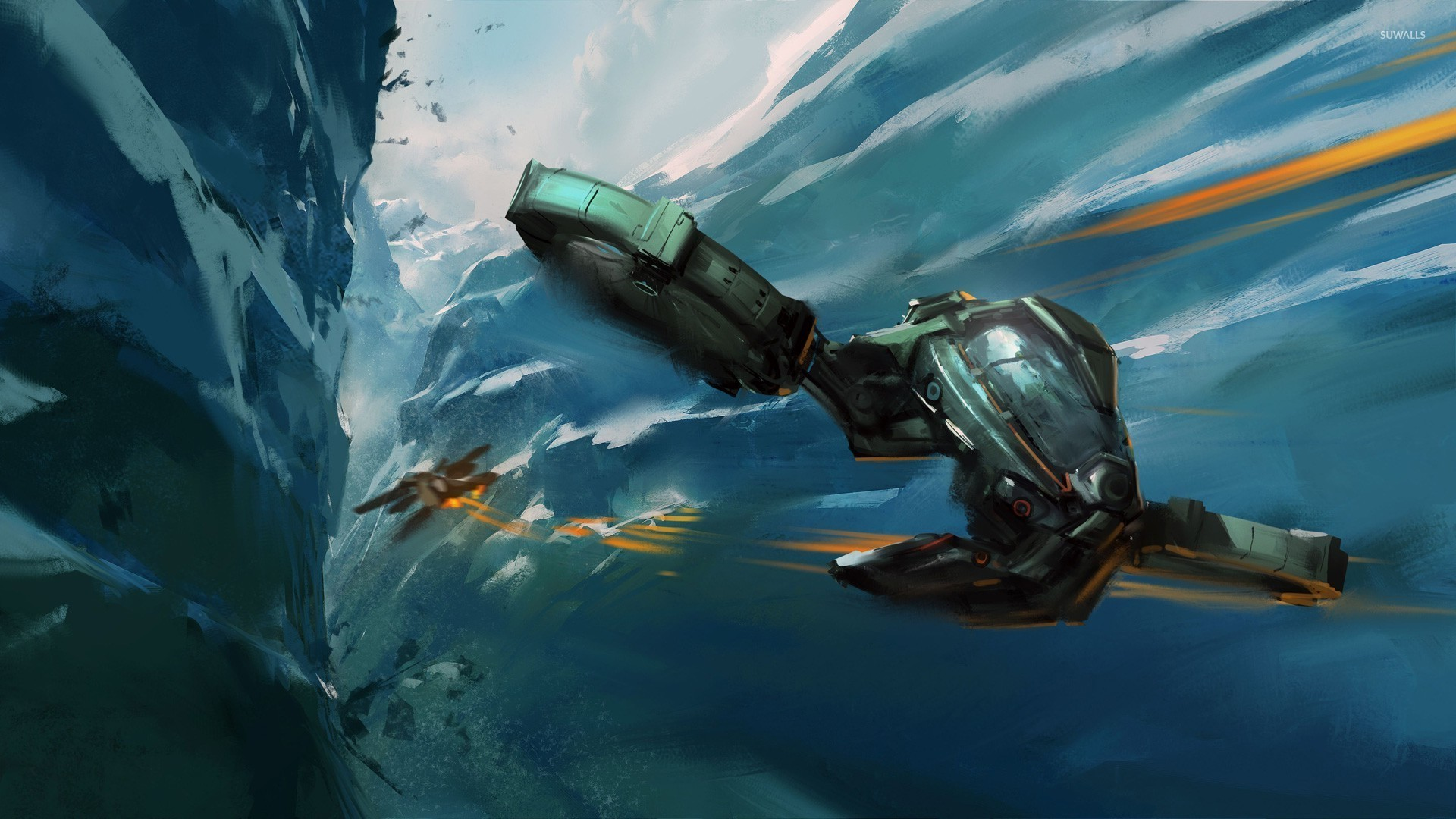Res: 1920x1080, Spaceship battle wallpaper