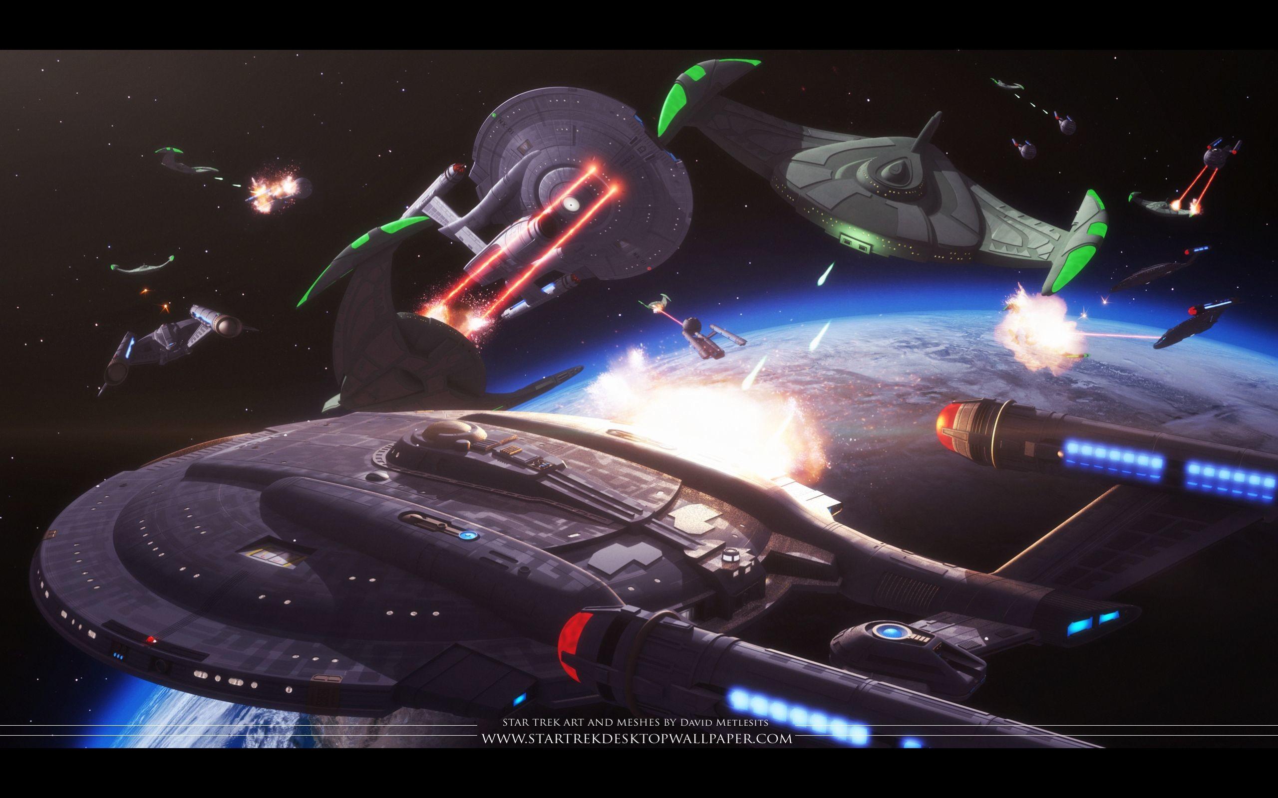 Res: 2560x1600, star trek | Star Trek Battle Scene - free Star Trek computer desktop  wallpaper ... | Live Long and Prosper | Pinterest | Computer desktop  wallpaper, ...