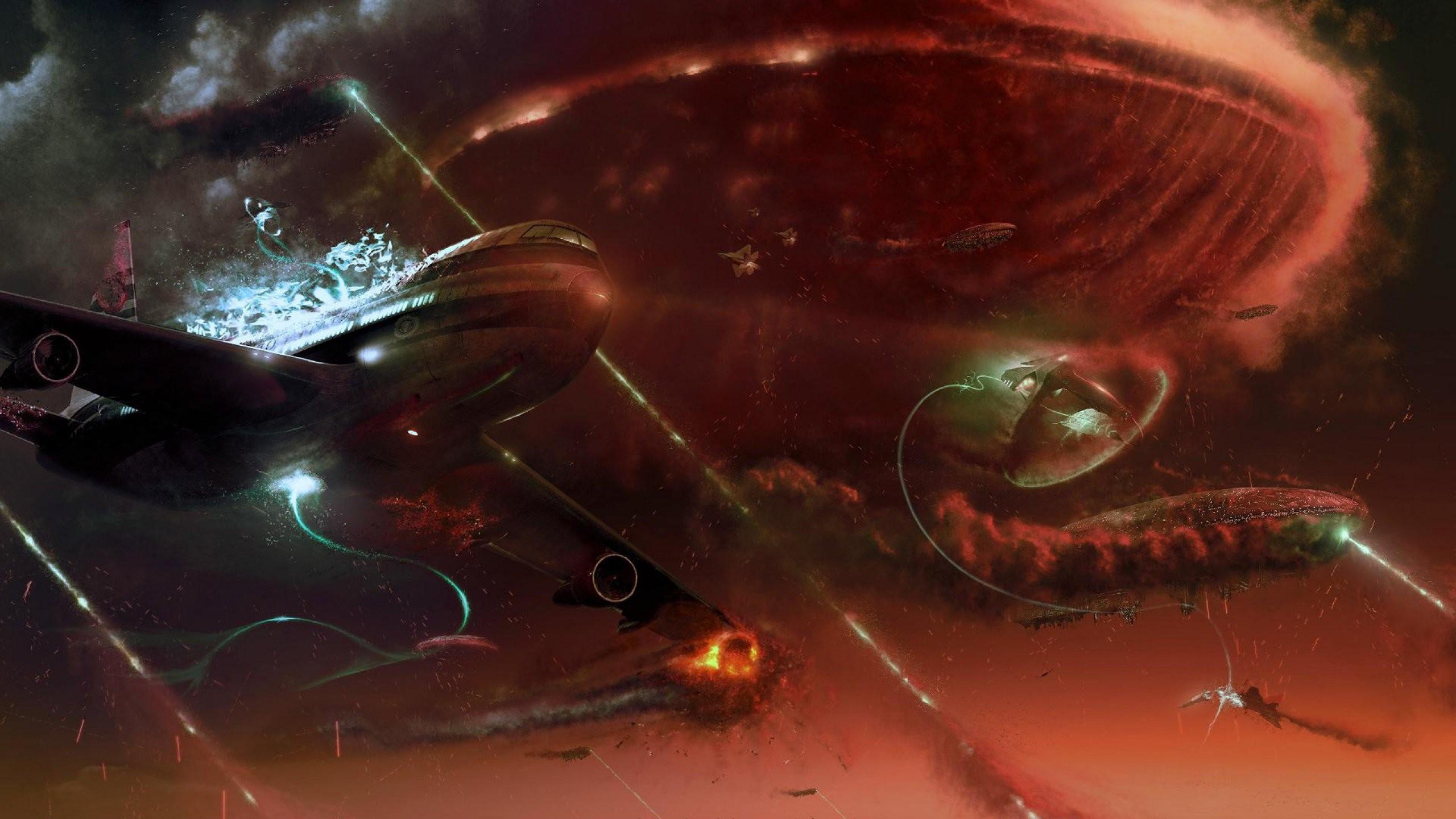 Res: 2560x1440, space battle 889599