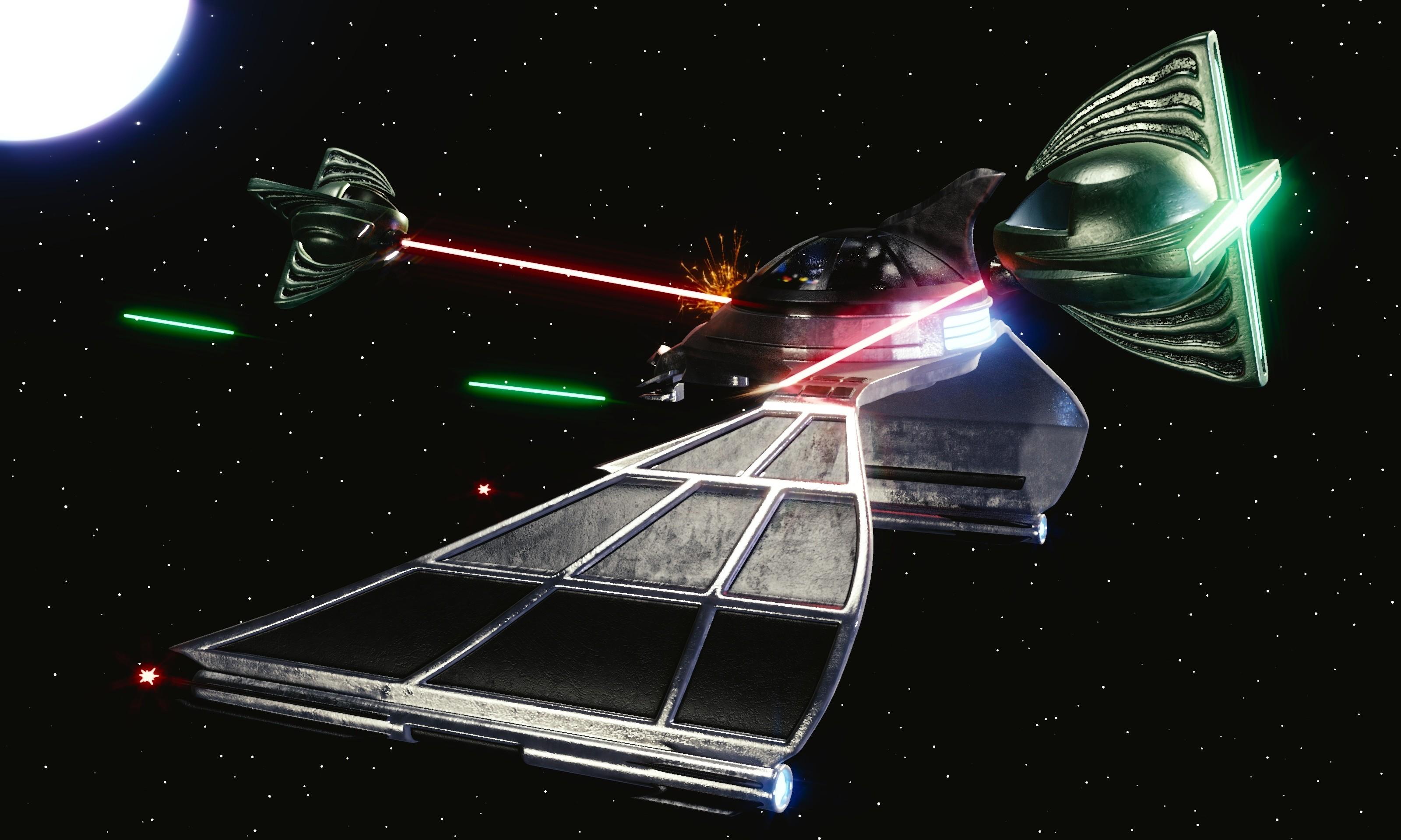 Res: 3200x1920, Spaceship Battle HD. Â«Â«