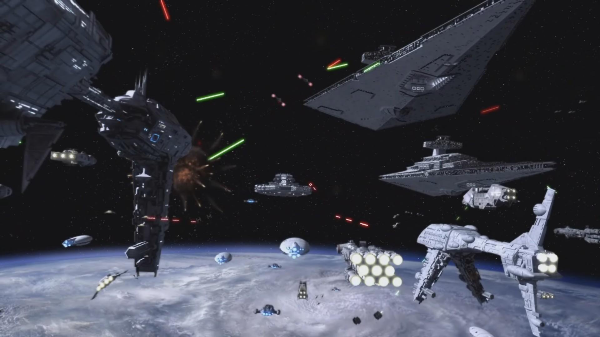 Res: 1920x1080, Download V.43 - Star Wars Space Battle Wallpaper, ModaFinilsale