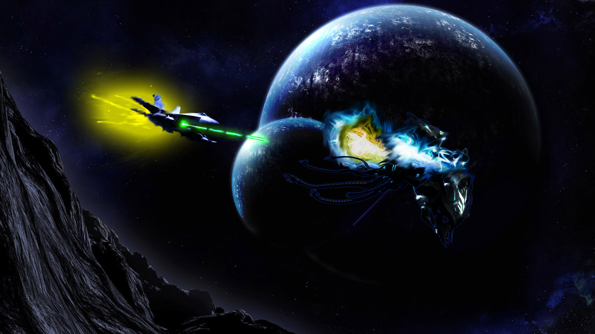 Res: 1920x1080, Epic Space Battle by DrilburNG Epic Space Battle by DrilburNG