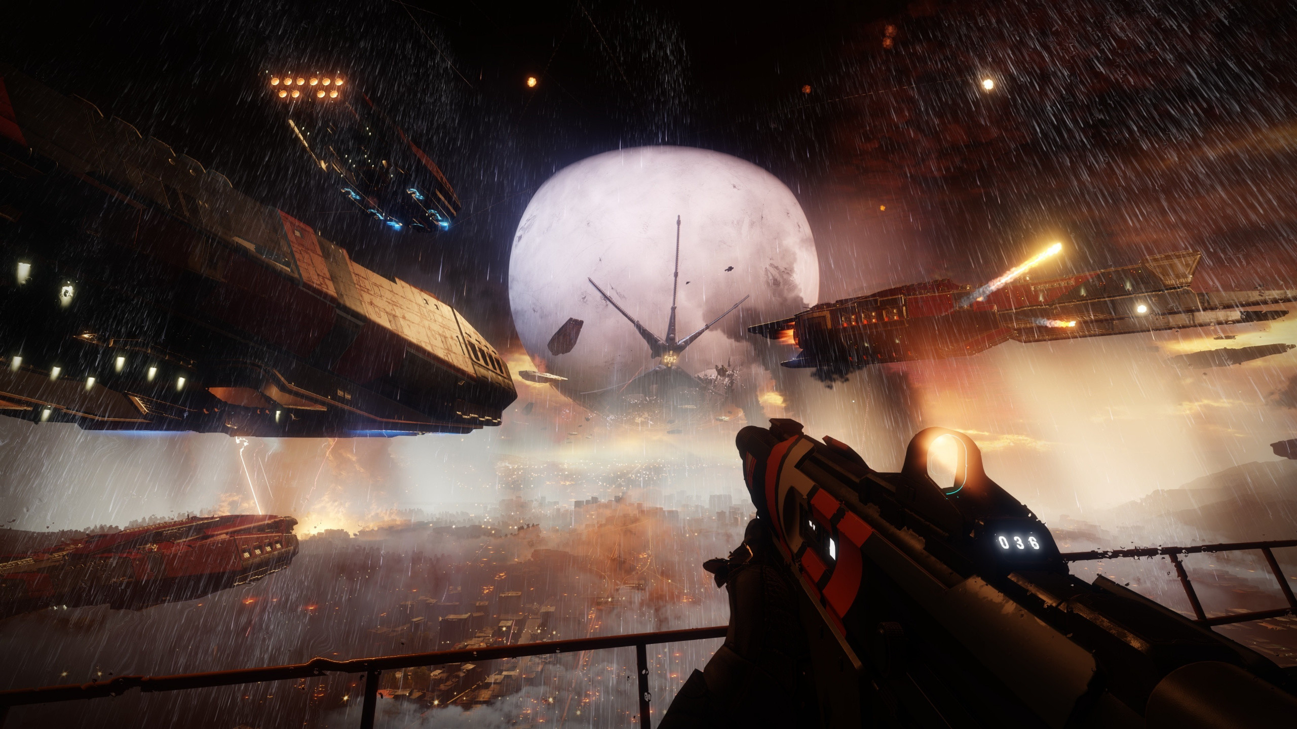 Res: 2560x1440,  wallpaper Space, battle, Destiny 2, video game, 4k