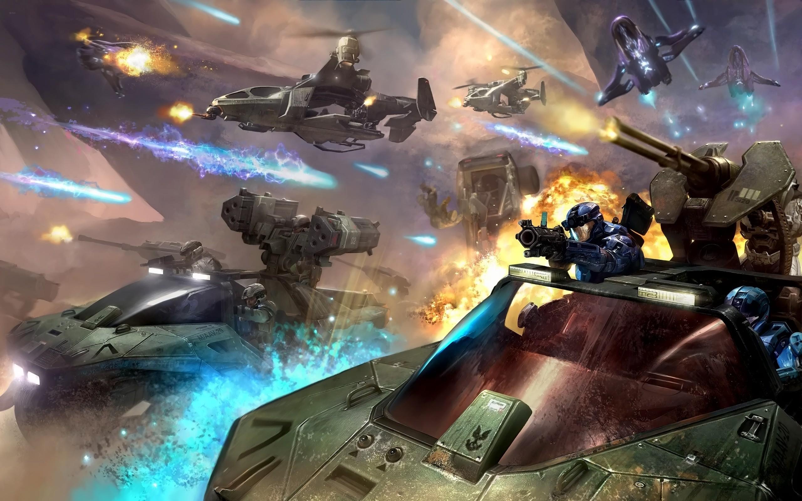 Res: 2560x1600, Halo Battle Art