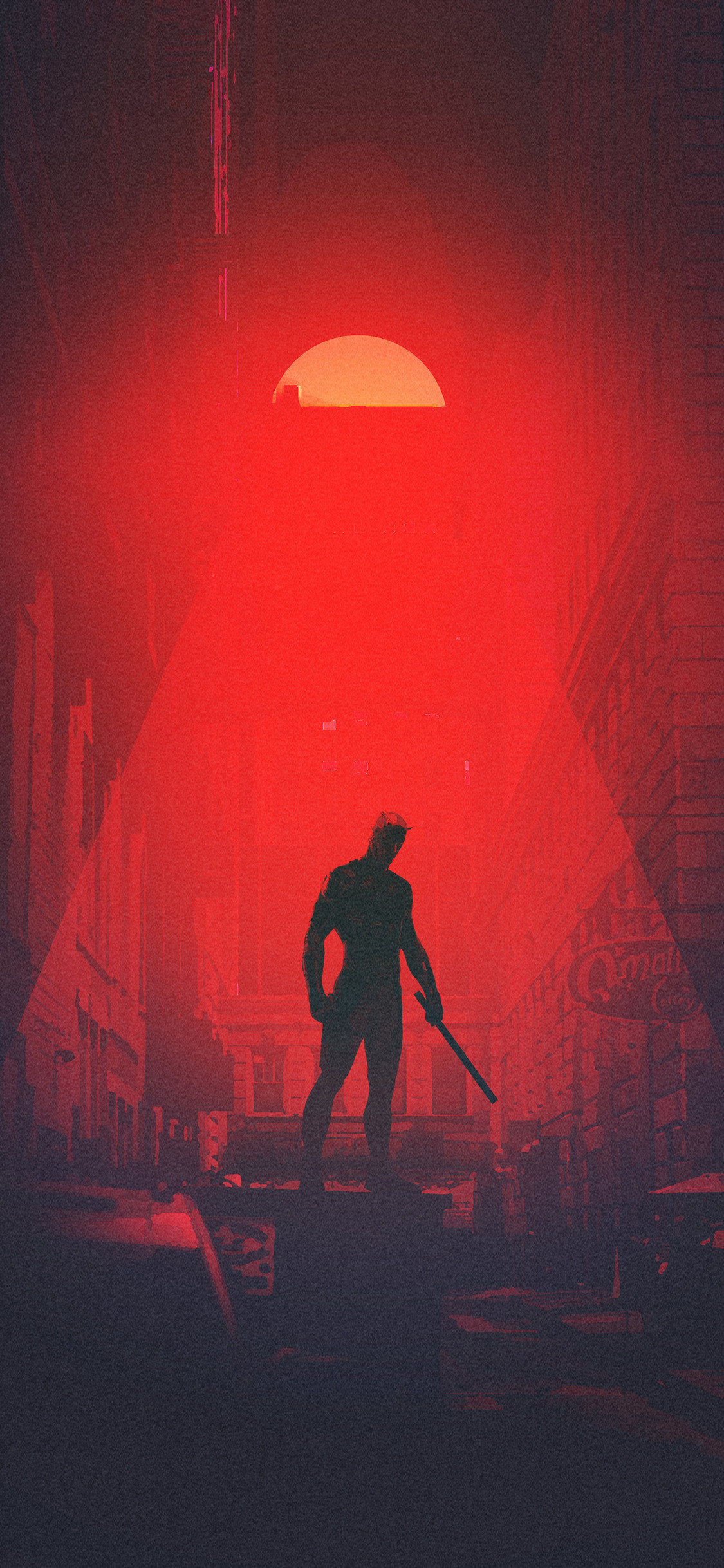 Res: 1125x2436, daredevil-minimalism-artwork-kb.jpg