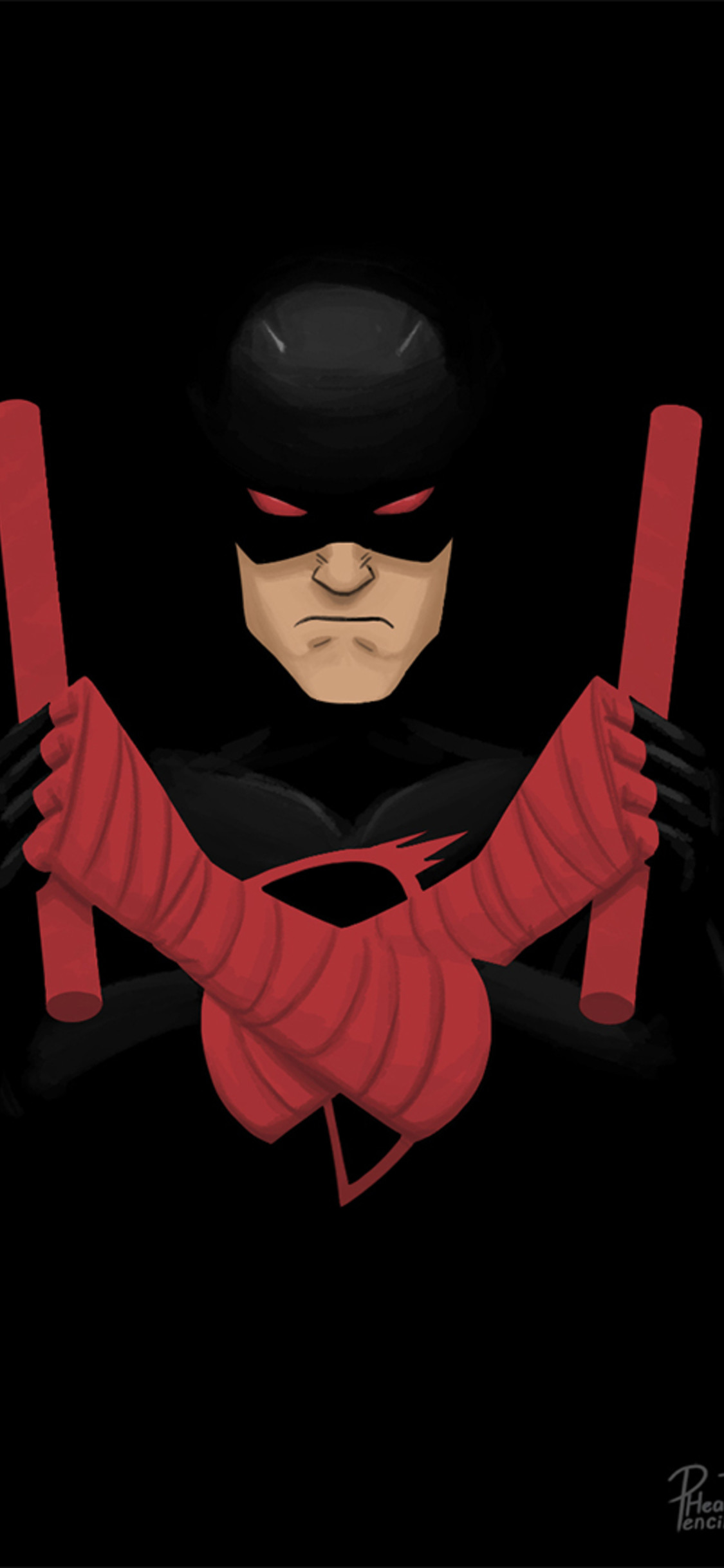 Res: 1125x2436, shadowland-daredevil-artwork-bi.jpg