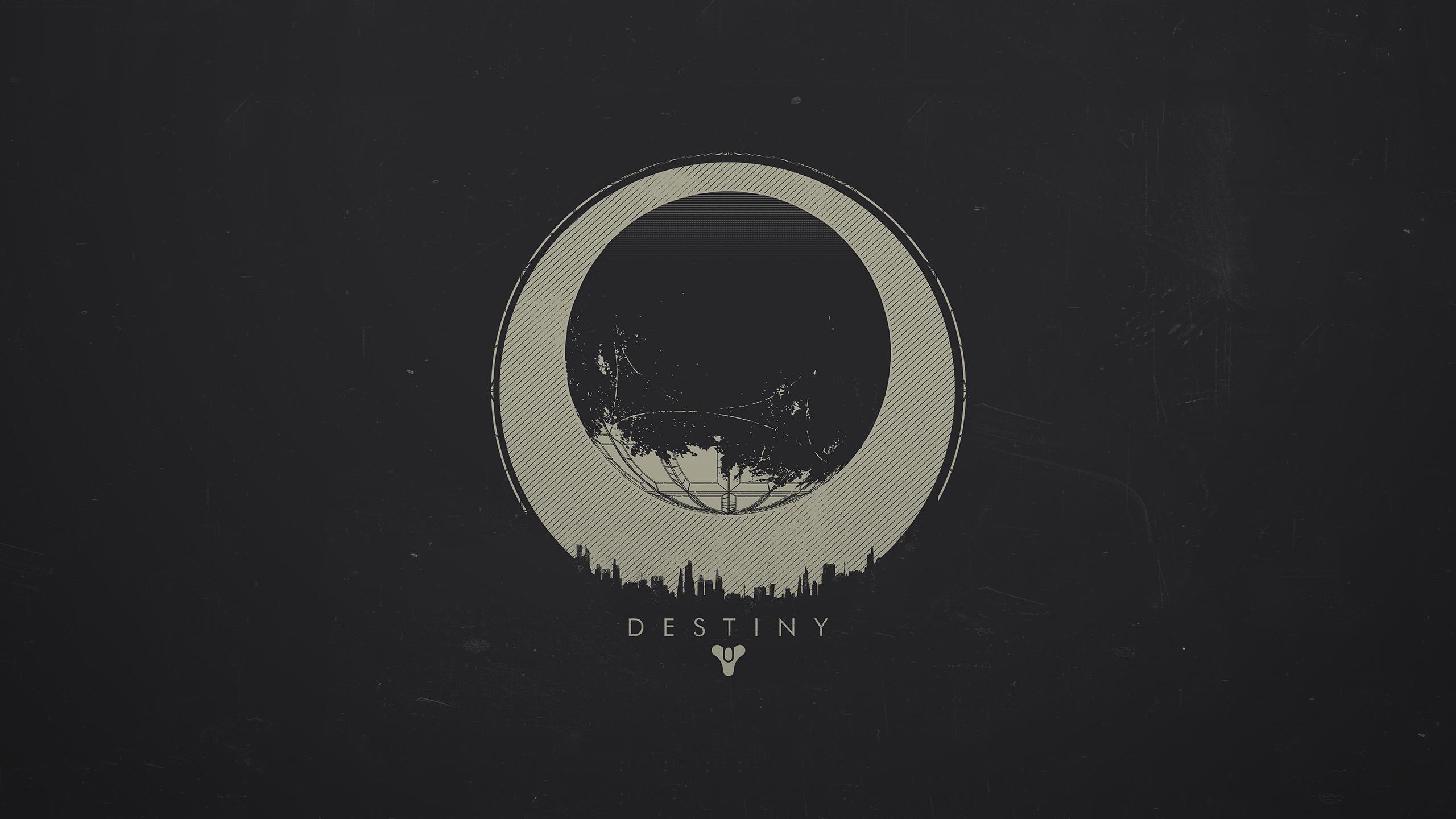 Res: 2560x1440, free download logo destiny wallpaper hd