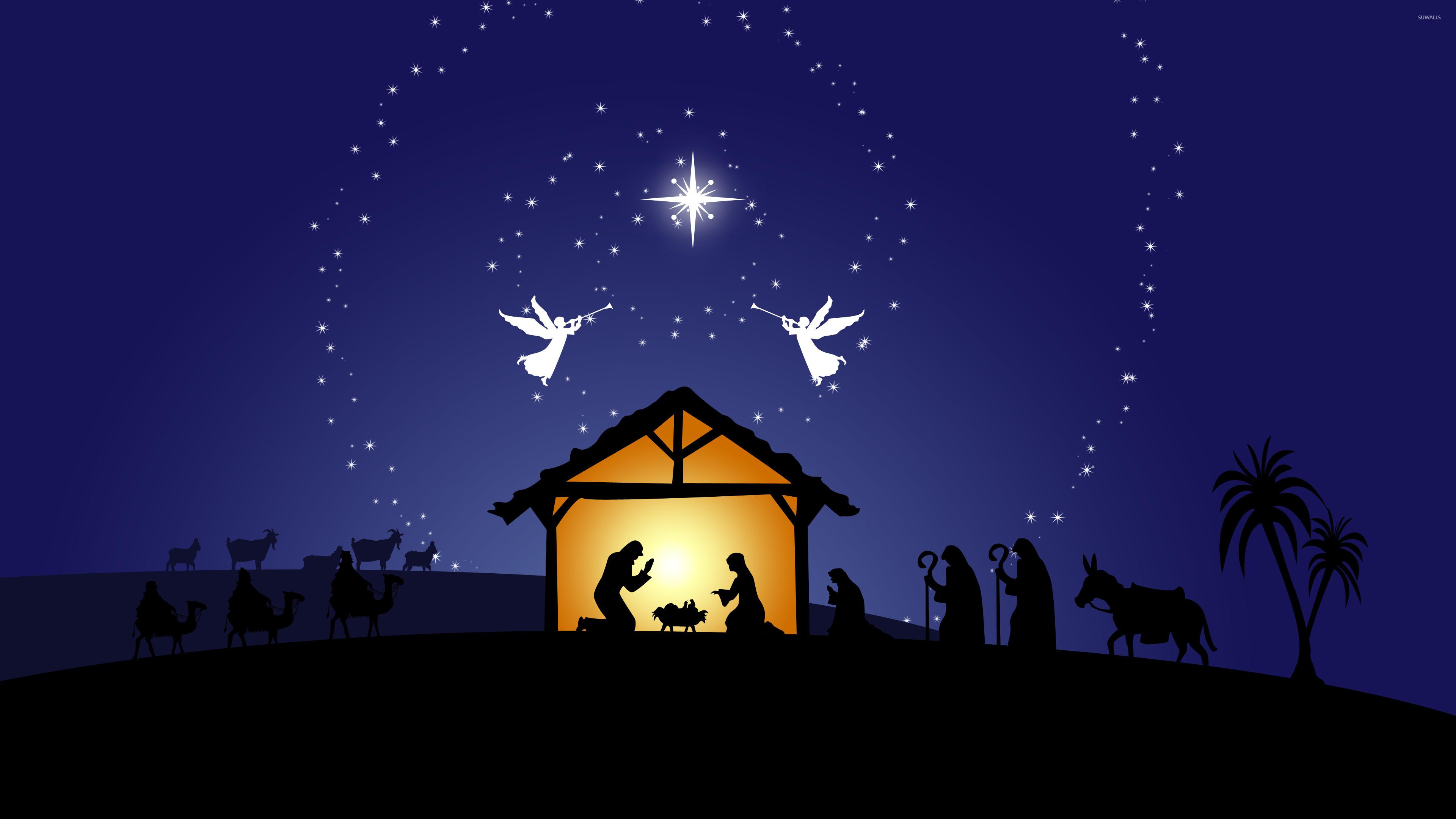 Res: 3840x2160, Nativity scene wallpaper