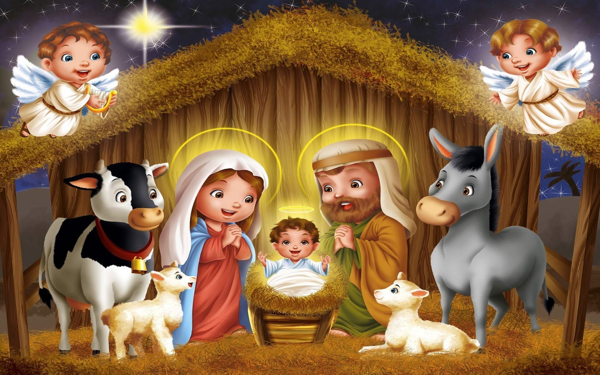 Res: 1920x1200,  Free Christmas Nativity Scene, computer desktop wallpapers,  pictures .