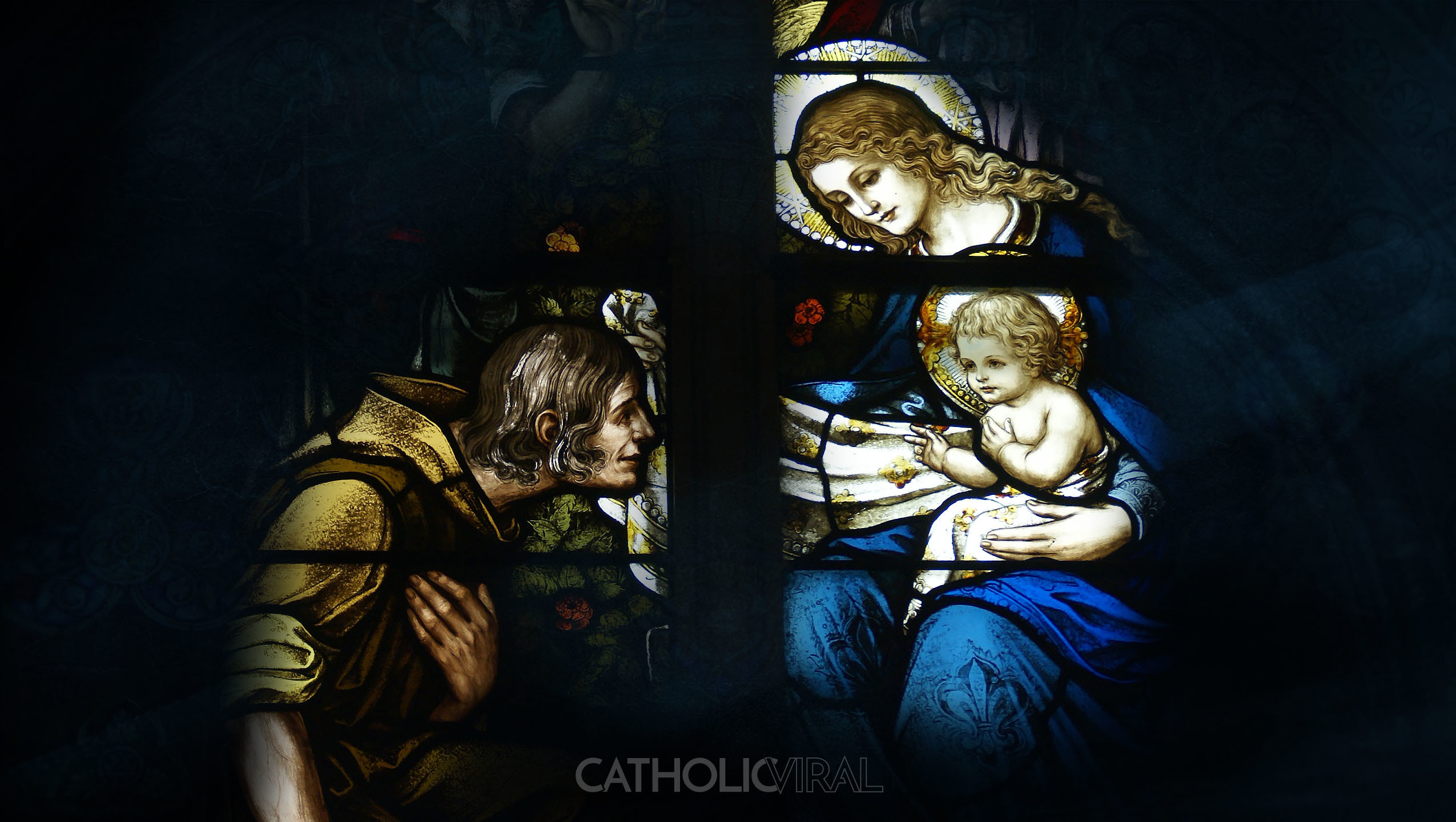 Res: 2550x1440, 17 Stunning Stained-Glass Windows of the Nativity - HD Christmas Wallpapers  - The Birth