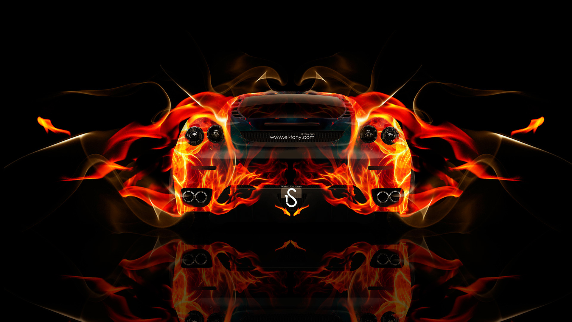 Res: 1920x1080, F430 Front Fire Abstract Car 2014 Ferrari Italia Fire Abstract Car