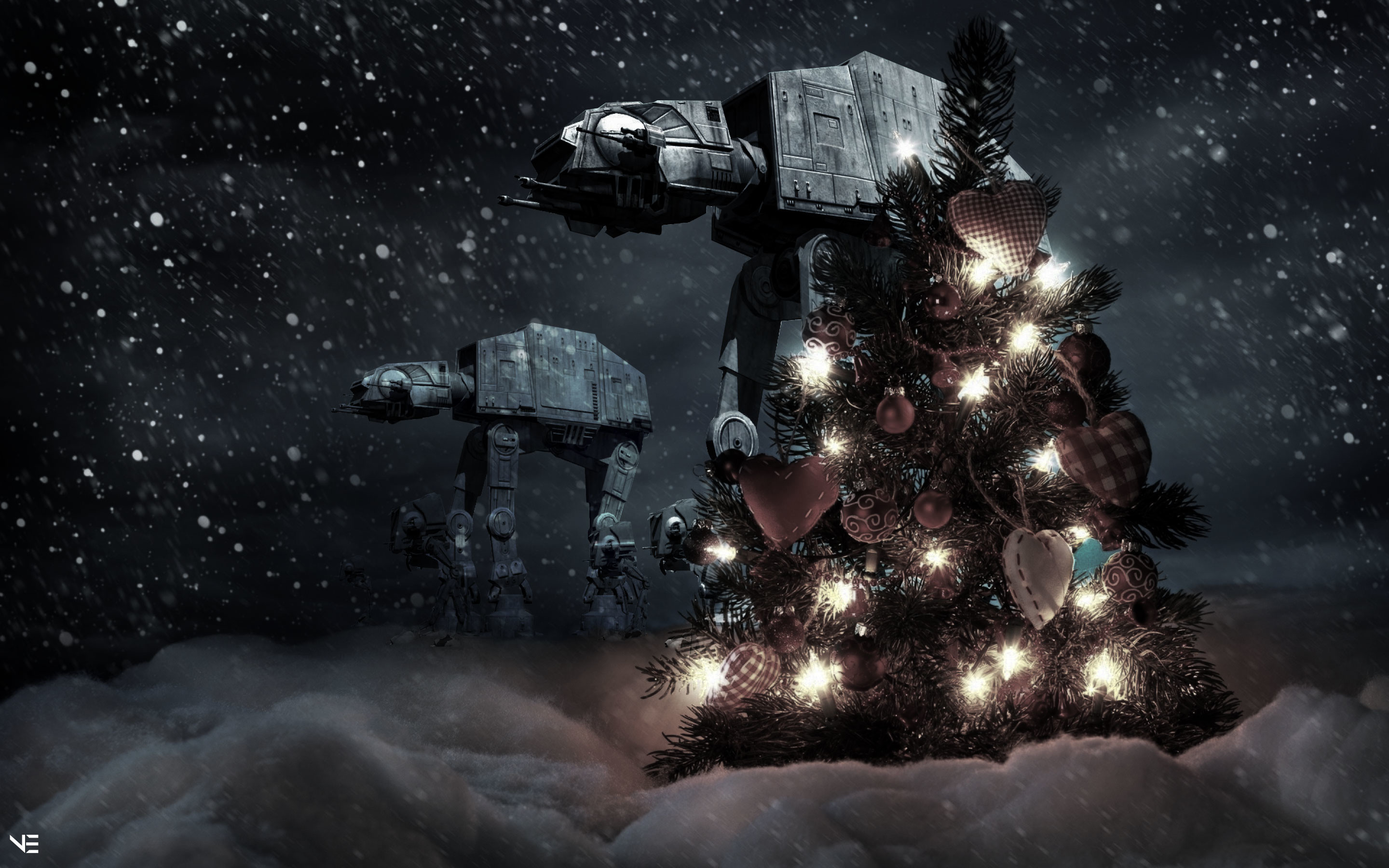 Res: 2880x1800, Star Wars Christmas Wallpaper & Source Files