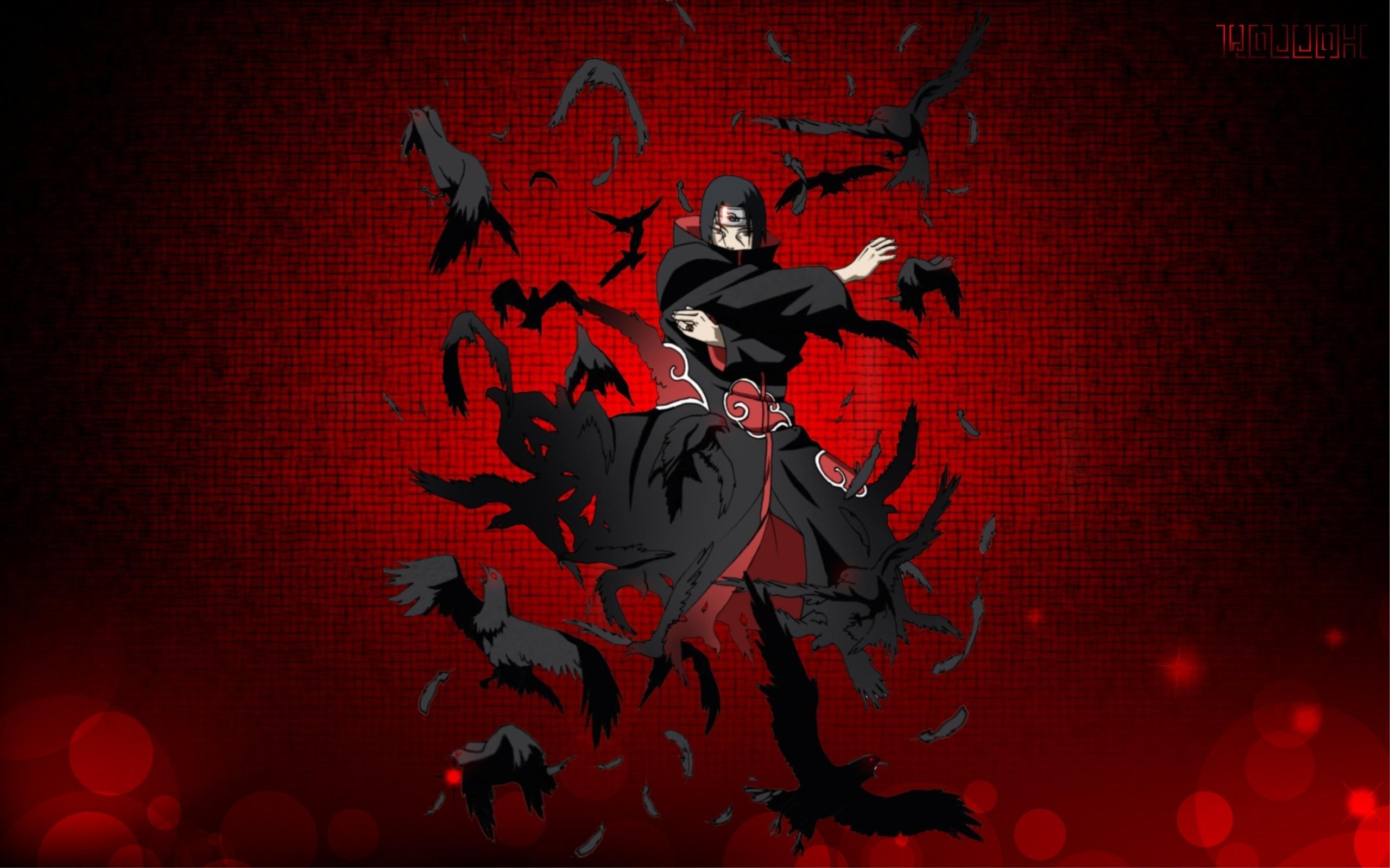 Res: 2560x1600, Naruto Shippuuden, Uchiha Itachi, Anime, Anime Boys, Akatsuki, Raven  Wallpapers HD / Desktop and Mobile Backgrounds