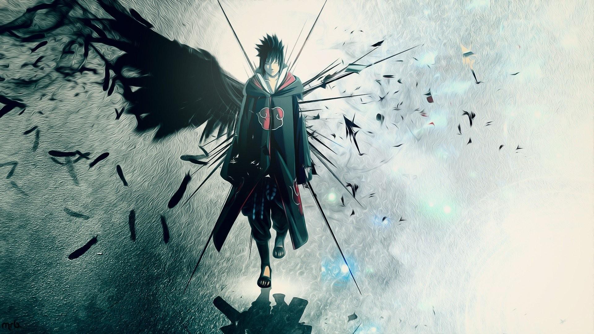 Res: 1920x1080, Wings Uchiha Sasuke Naruto: Shippuden Akatsuki feathers artwork anime anime  boys wallpaper |  | 280467 | WallpaperUP