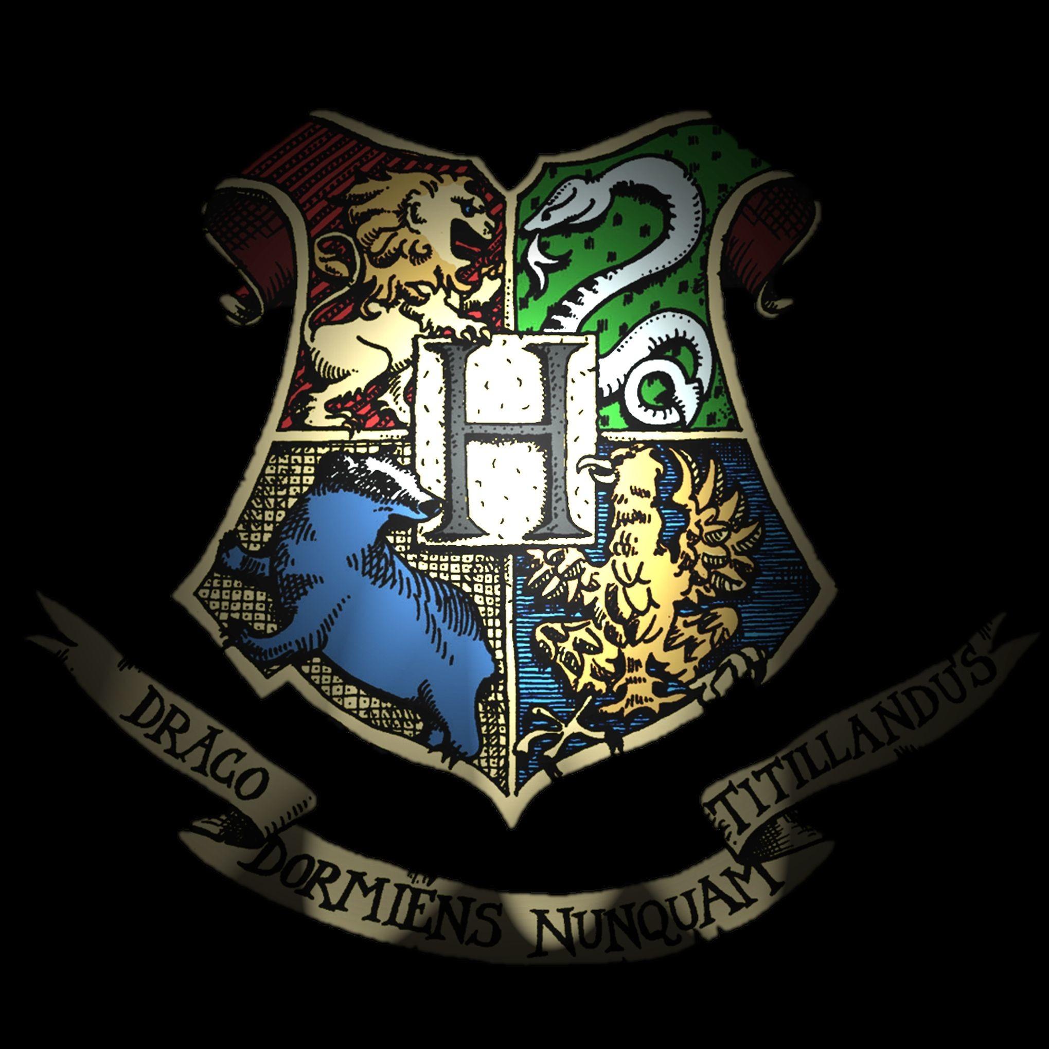 Res: 2039x2039, Hogwarts Logo Wallpaper - WallpaperSafari