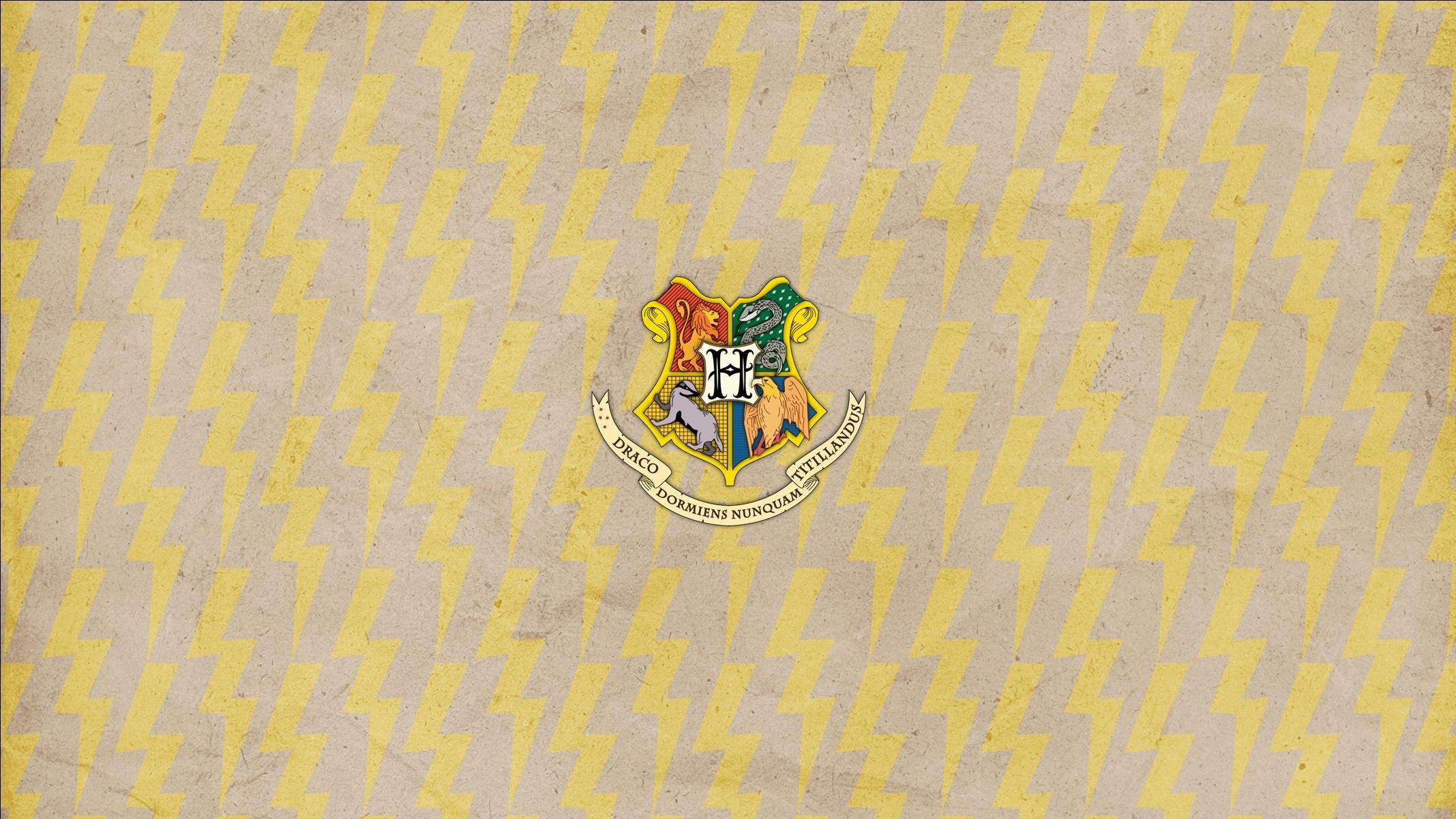 Res: 2135x1200, Hogwarts Crest on lightning bolts widescreen desktop wallpaper Widescreen  Wallpaper made by Deanna