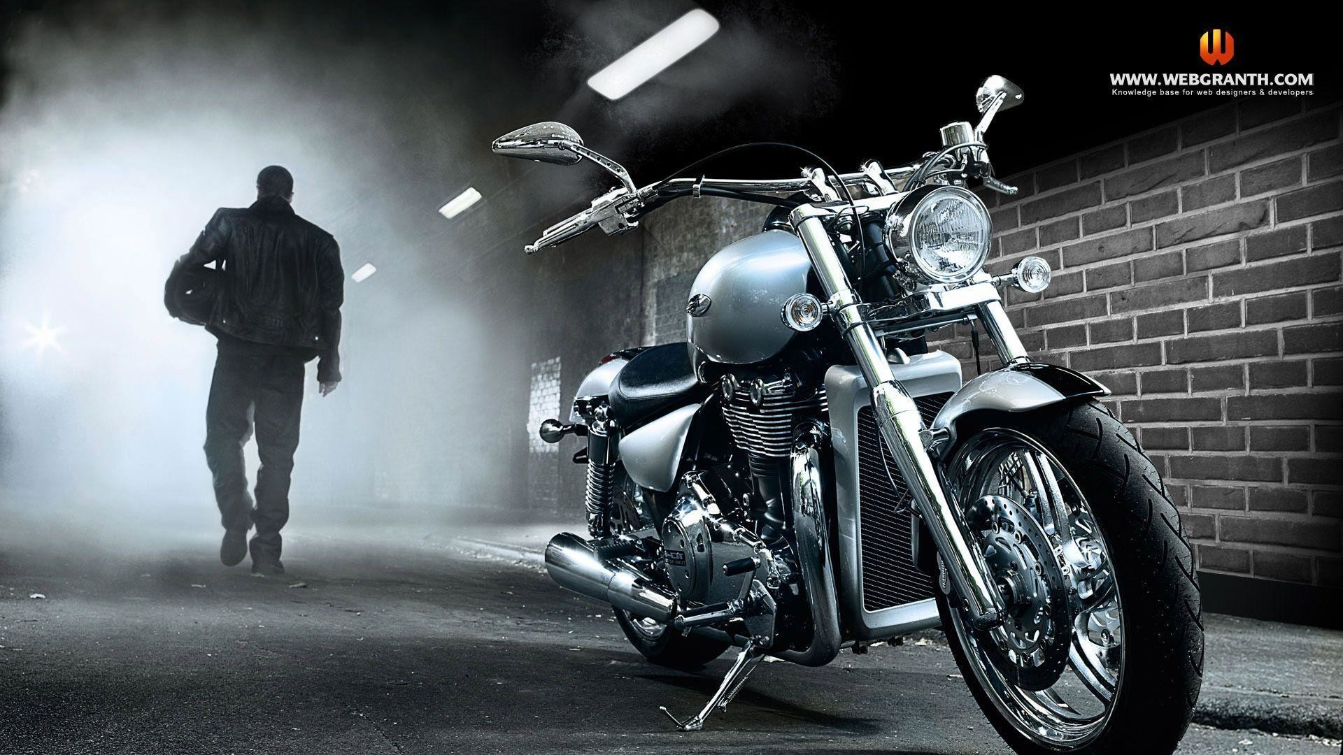 Res: 1920x1080, Download Free Biker With Motorcycle Wallpaper | HD Wallpapers .