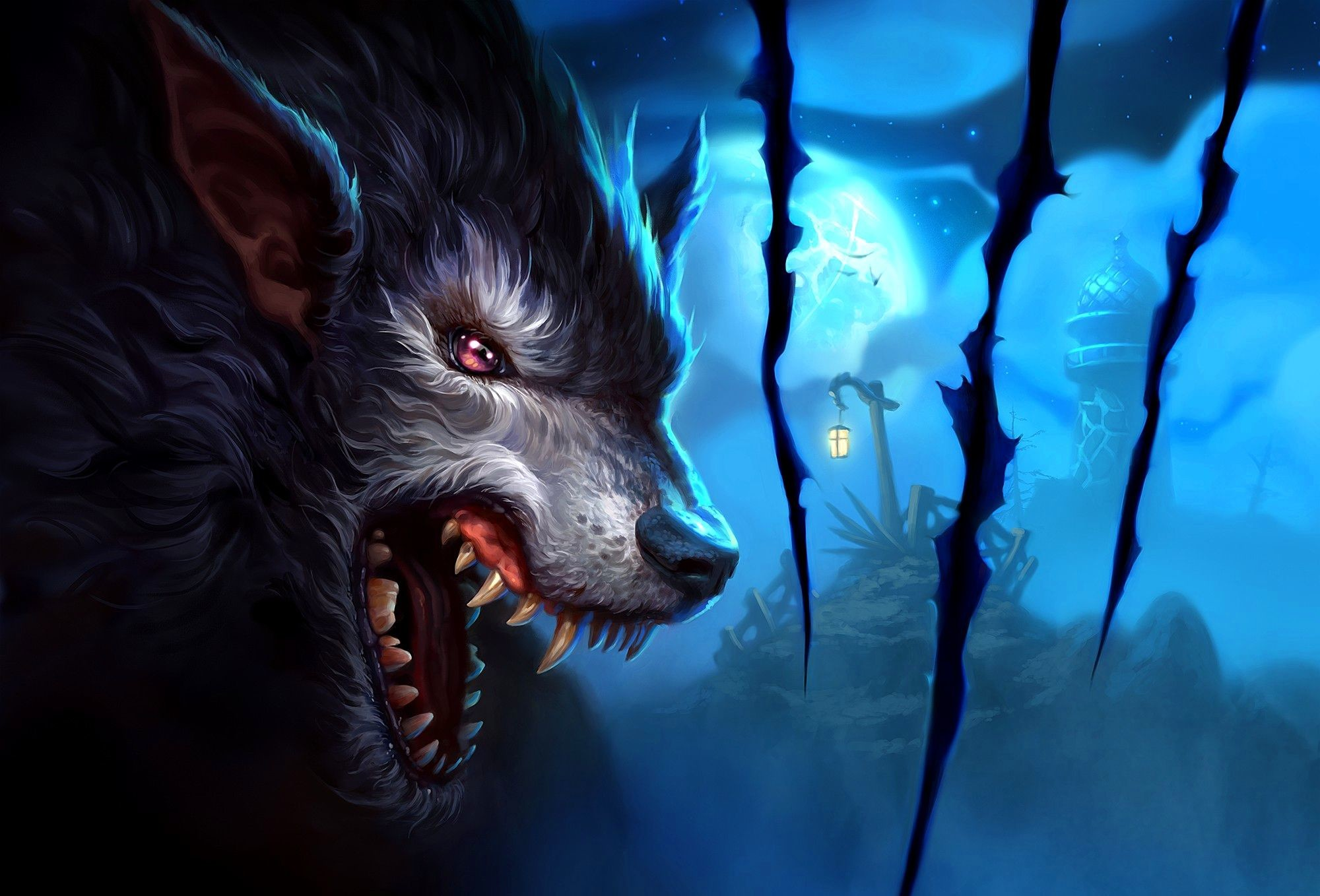 Res: 2000x1358, Anime Wolf Wallpapers Wallpaper 2000×1358 Animated Wolf Wallpapers (41  Wallpapers) | Adorable