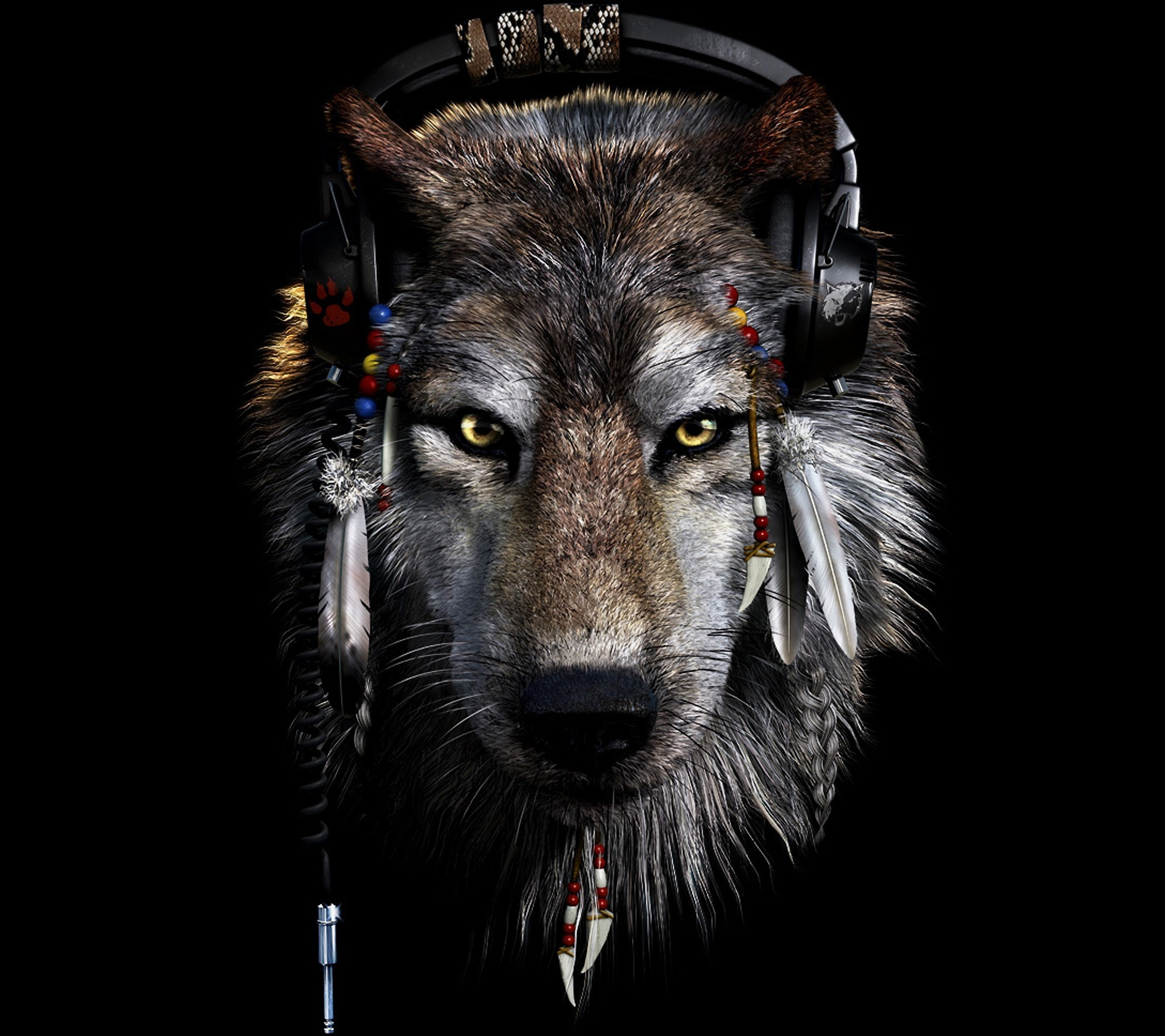 Res: 2160x1920,  Dark Wolf Wallpapers Wallpaper