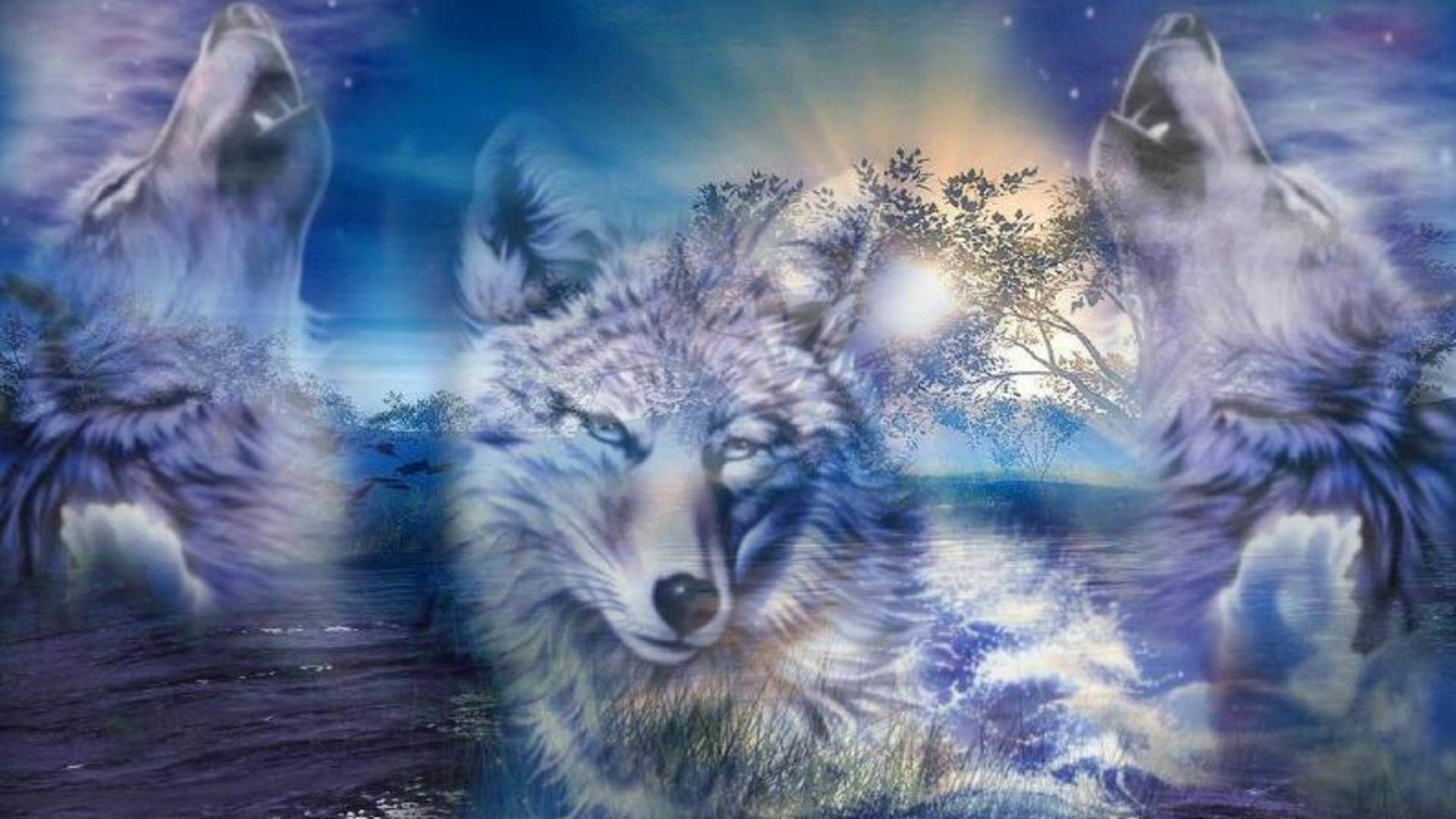 Res: 1920x1080,  Mind Blowing Cartoon Wolves Wallpaper te.org 1920×1080 Animated  Wolf Wallpapers  