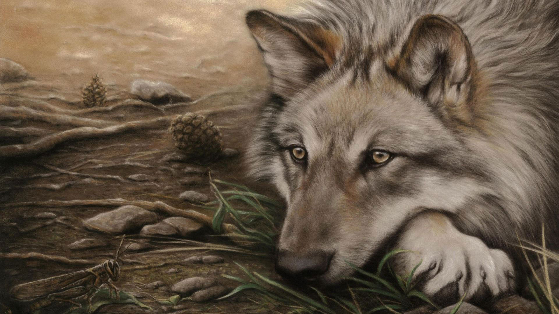 Res: 1920x1080, Wolf Drawing Wallpaper Attractive Animated Wolf Drawing Painting Hd Quality  Desktop