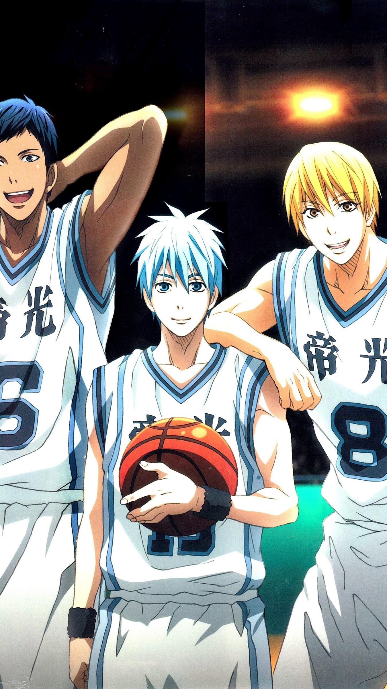 Res: 1350x2400,  Wallpaper kuroko no basket, team, akashi seijuurou, aomine daiki,  kise ryouta