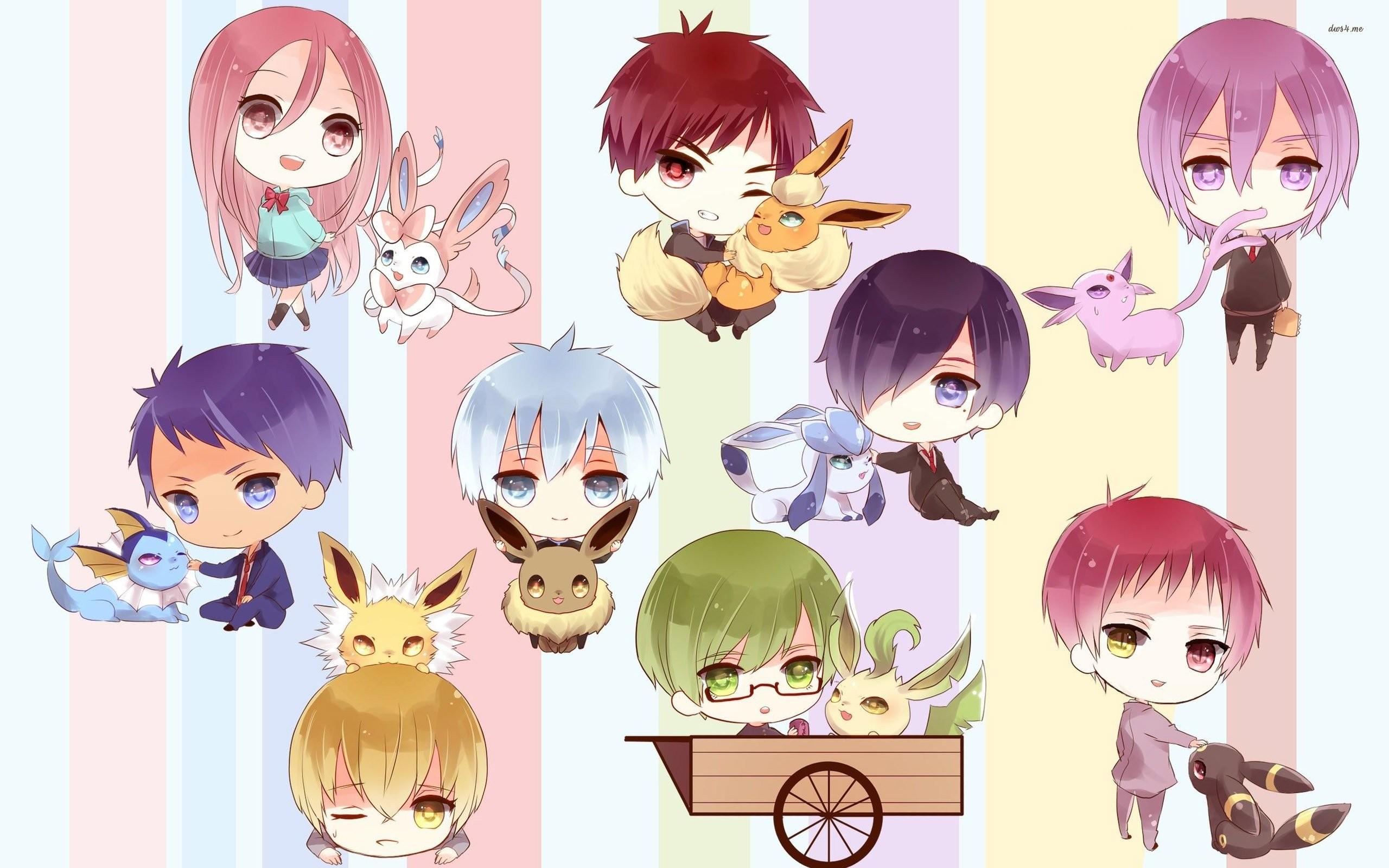 Res: 2560x1600, kuroko's basketball characters with pokemon