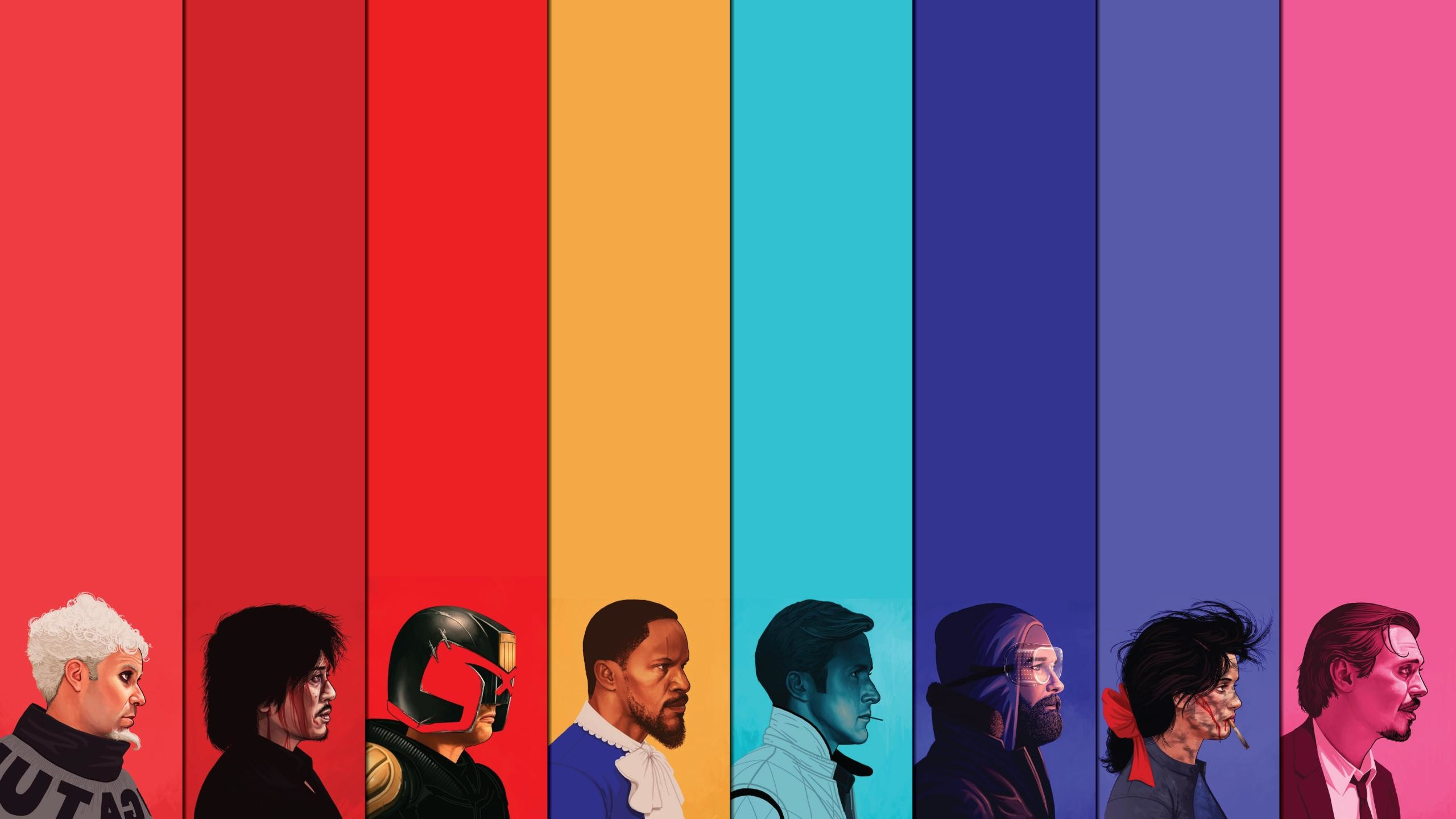 Res: 2560x1440, Colorful Judge Dredd Django Unchained Zoolander Drive The Thing Reservoir  Dog wallpaper      79501   WallpaperUP