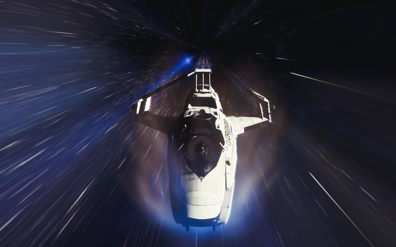 Res: 2880x1800, Spacecraft, Star Citizen, Warp drive, Interstellar travel, HD