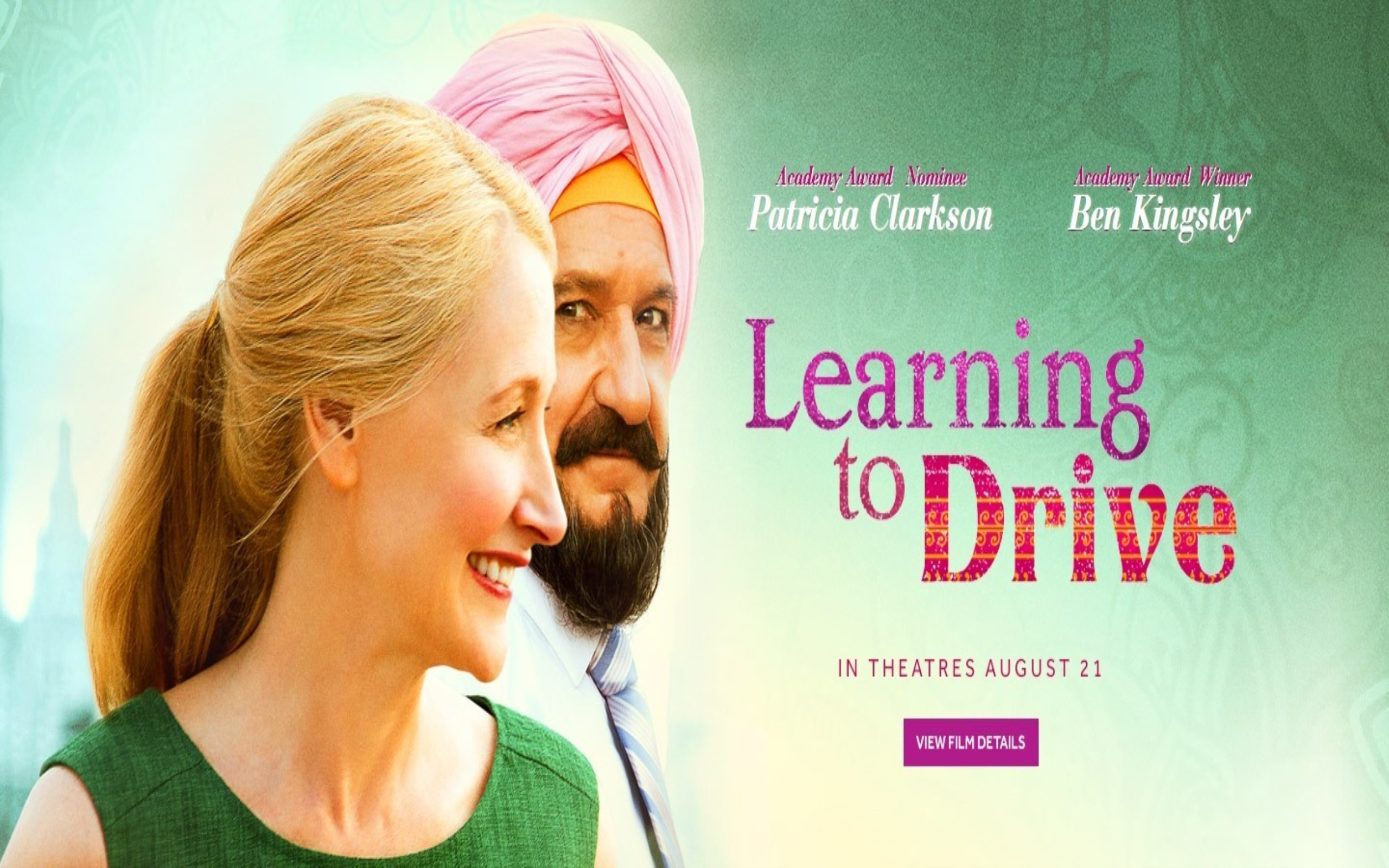 Res: 2560x1600, Learning to Drive Movie Poster Wallpaper