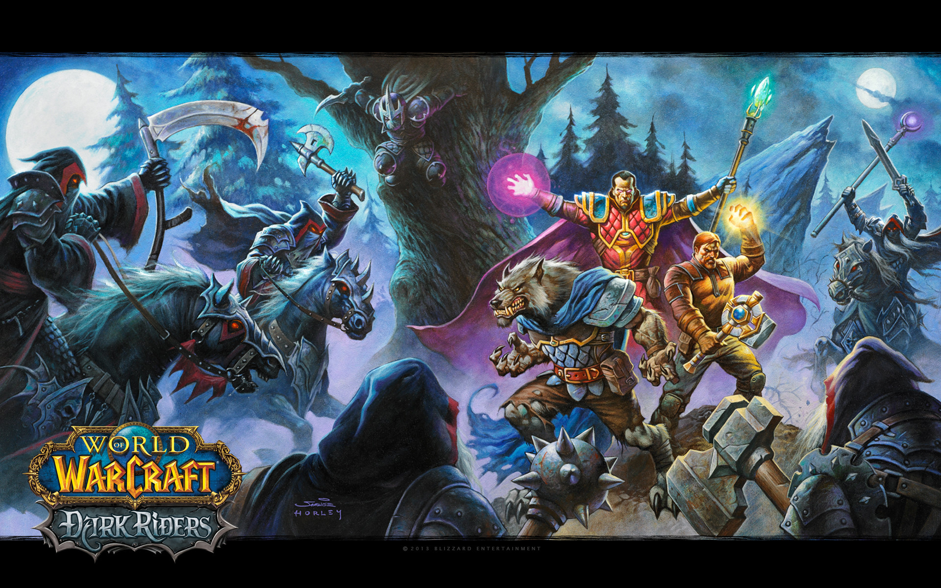 Res: 1920x1200, Blizzplanet The Official World of Warcraft: Dark Riders Wallpaper Available  | Blizzplanet