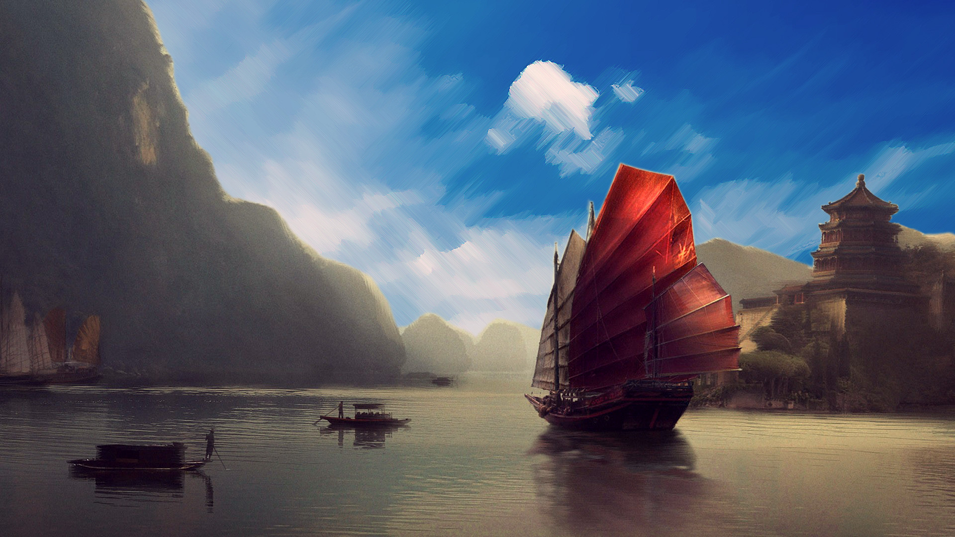 Res: 1920x1080, asian scenery wallpaper chinese landscape wallpaper 3554×1999
