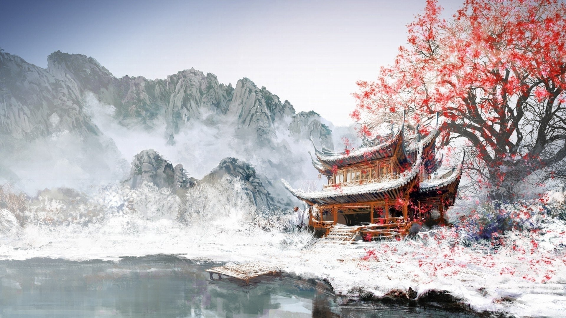 """Res: 1920x1080, """"Download Chinese Temple Wallpaper Gallery"""" — card from user mila.sh31 in  Yandex.Collections"""