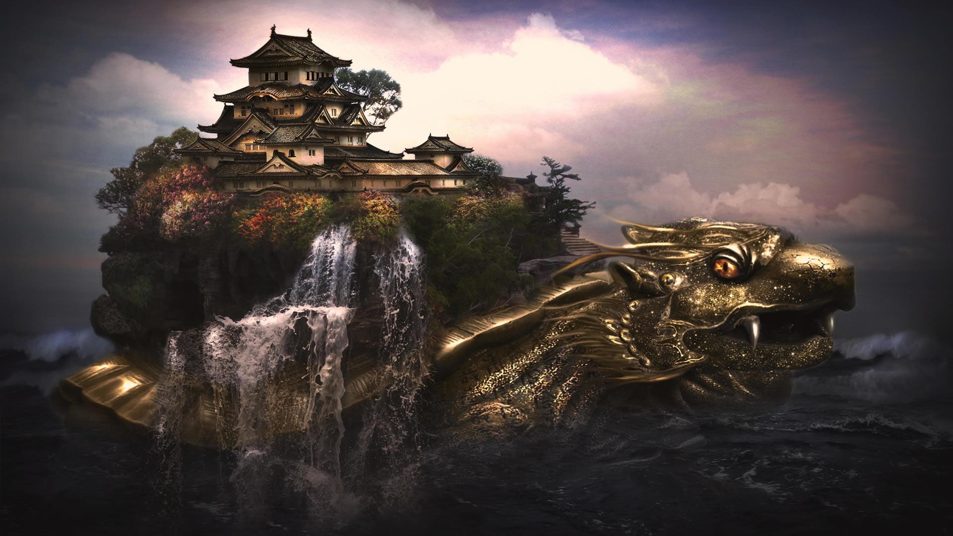 Res: 1920x1080, Dragon Landscape Wallpaper Free Desktop by tapeper