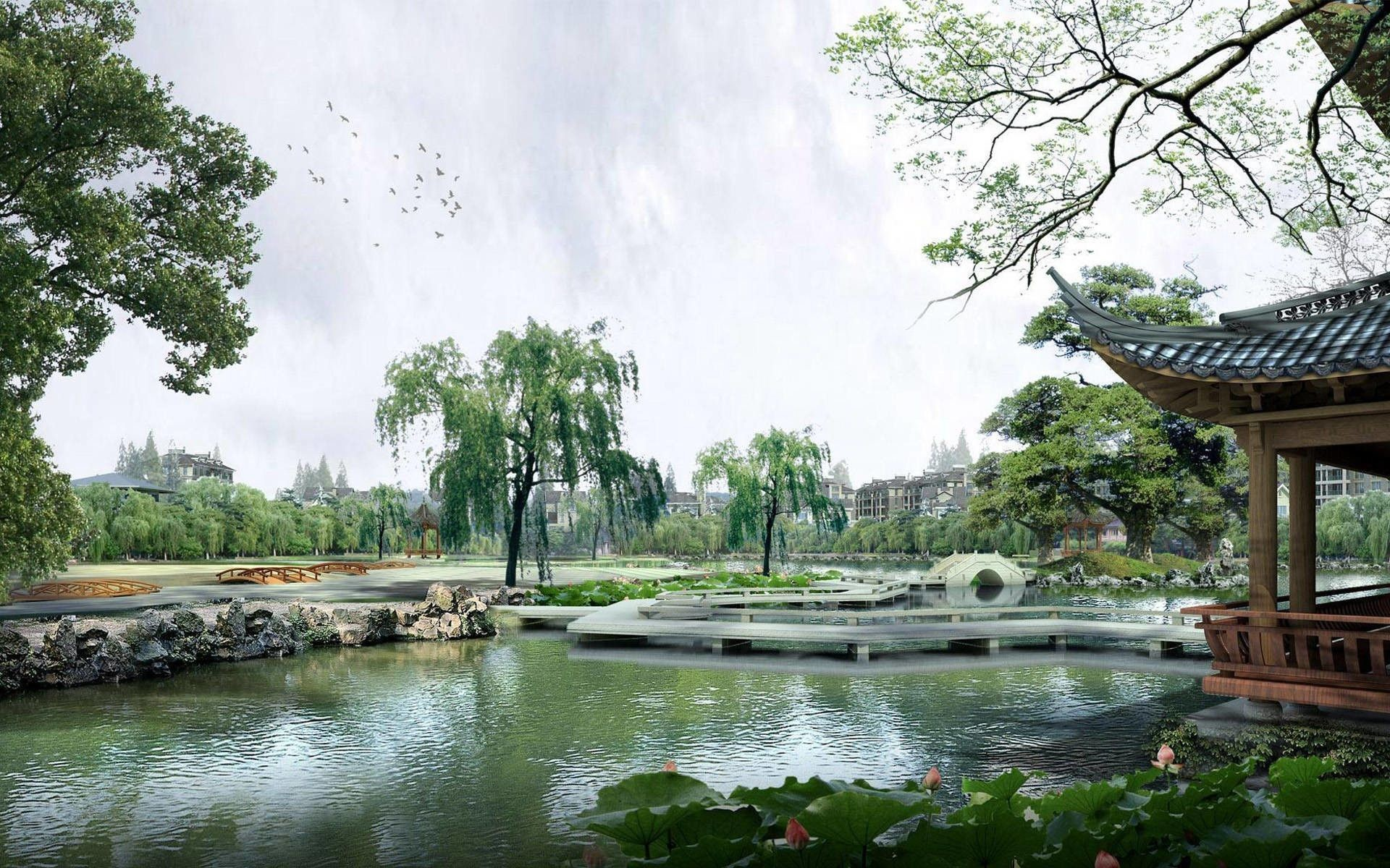 Res: 1920x1200, Picture Chinese Garden Desktop Backgrounds, Wallpapers, HD .
