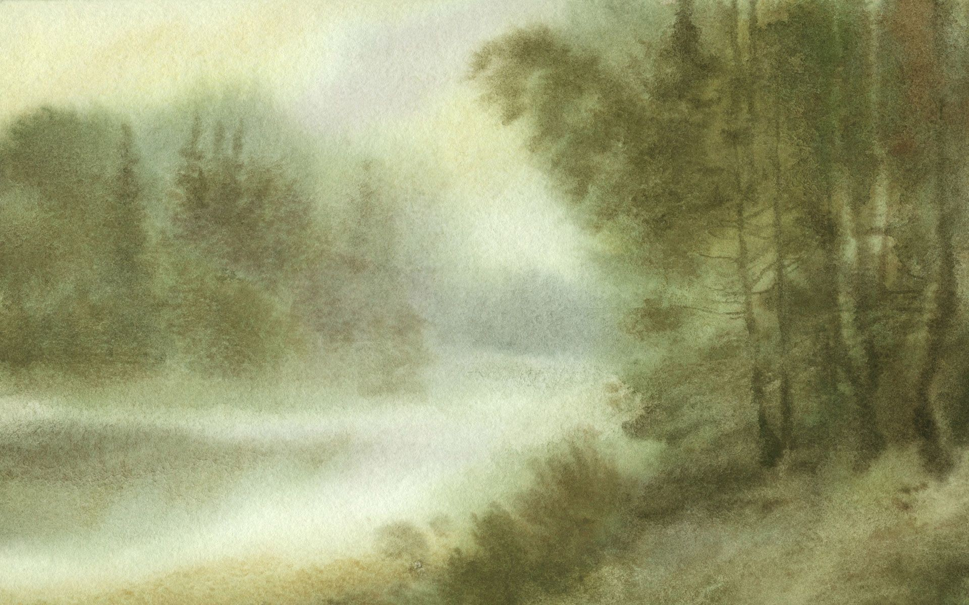 Res: 1920x1200, HD Chinese Lscape Painting In Watercolor Wallpaper | Download Free .